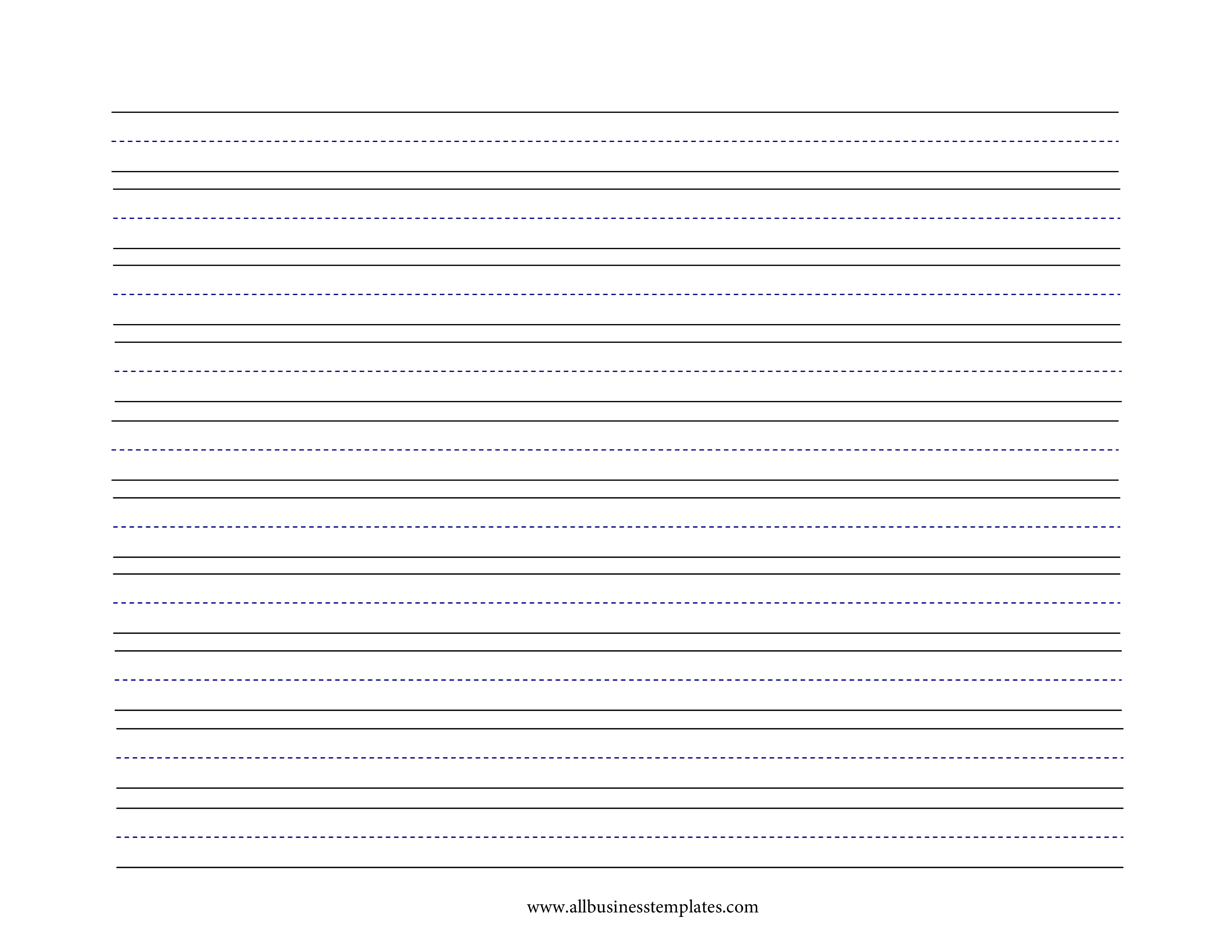 Free Lined paper medium lines A4 | Templates at allbusinesstemplates.com