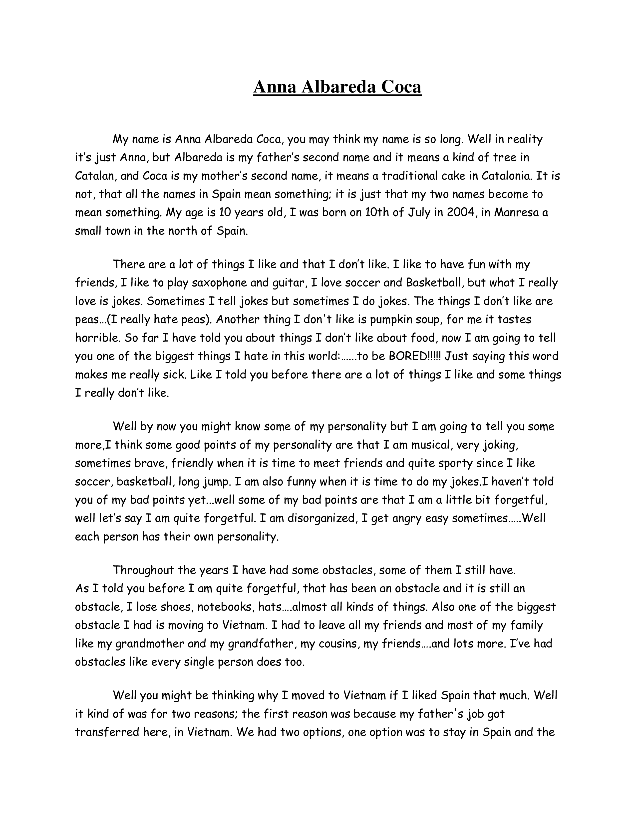 Free Funny Autobiography | Templates at allbusinesstemplates.com