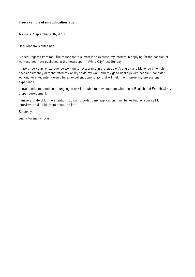 Cover Letter For Restaurant Job from www.allbusinesstemplates.com