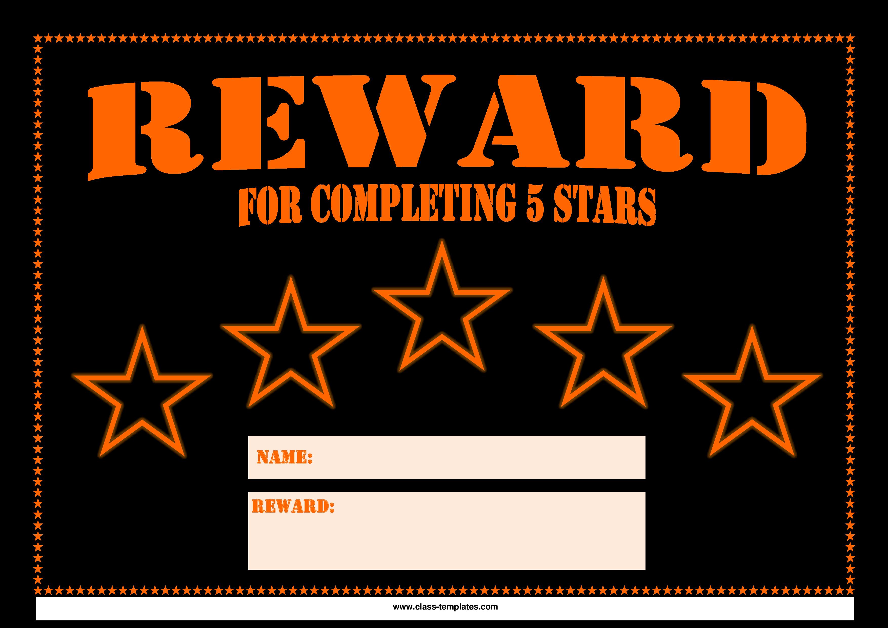reward chart templates