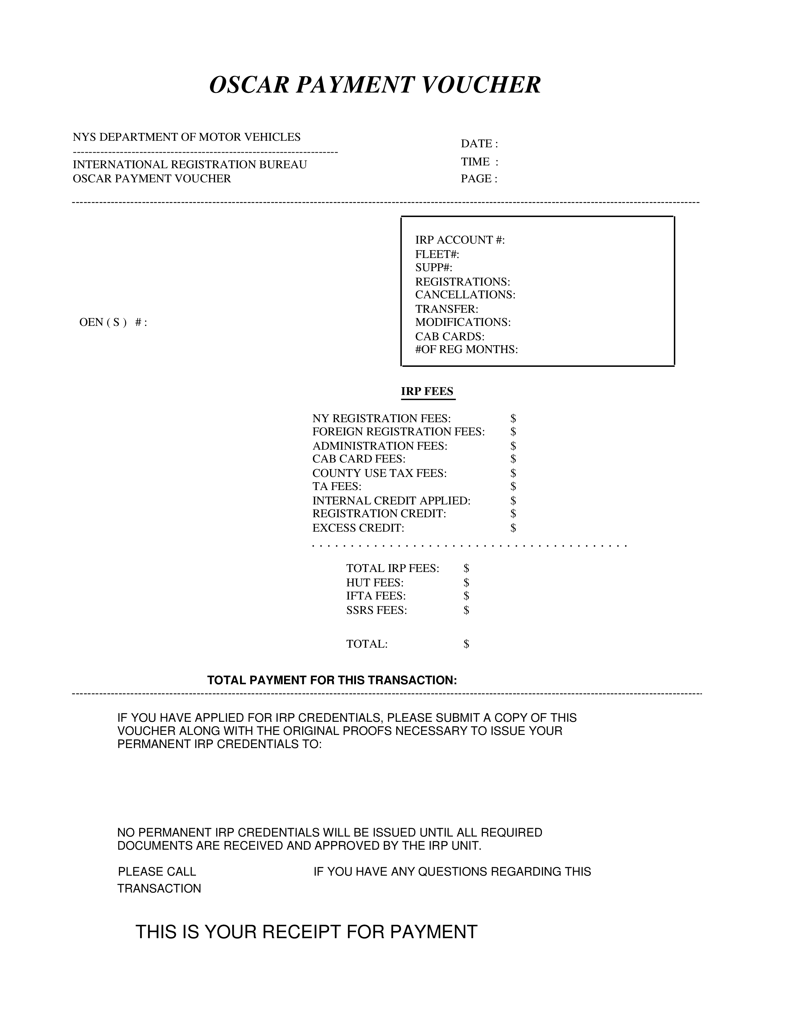 free payment receipt voucher templates at
