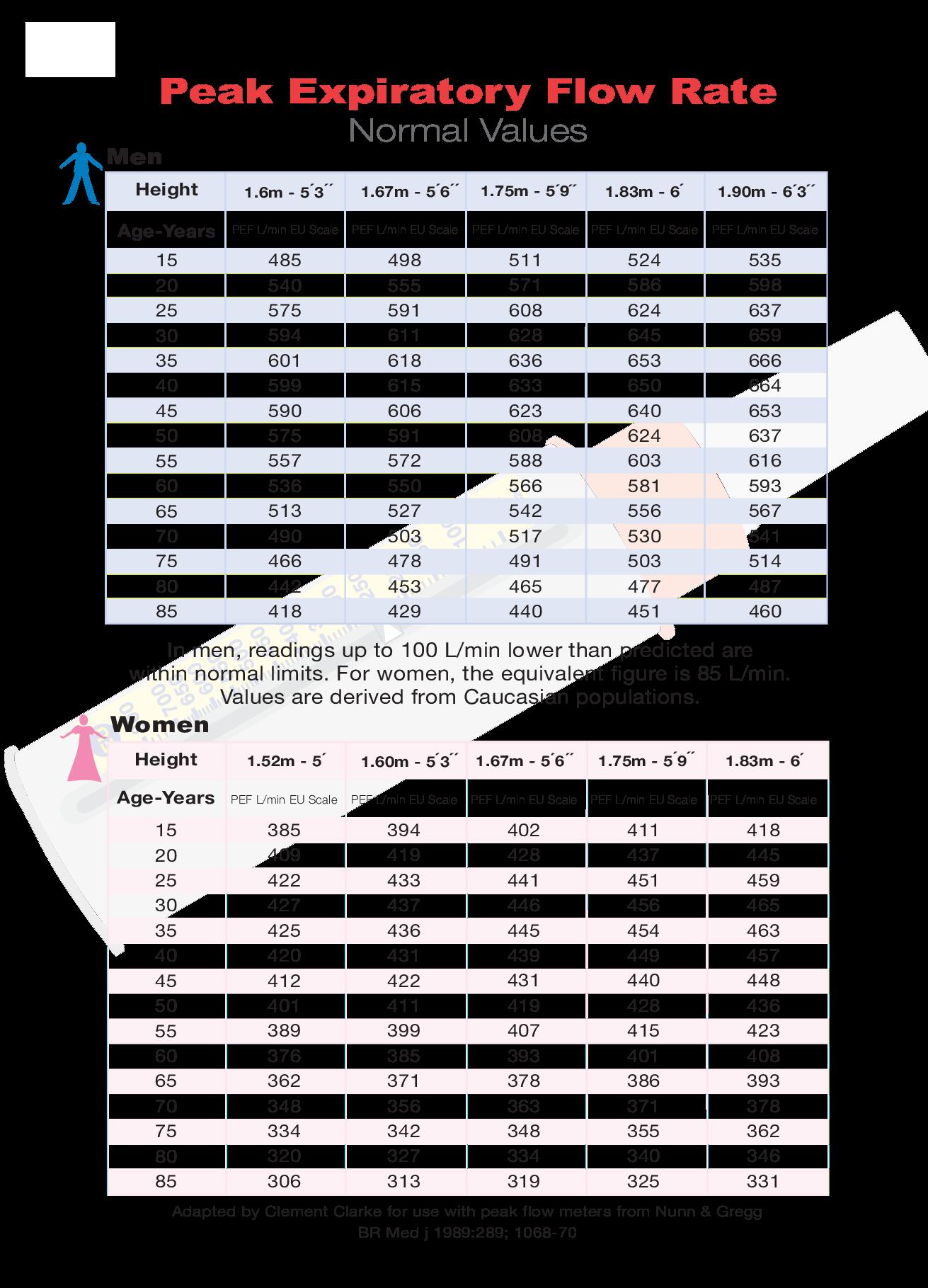 Free pediatric peak flow chart templates at allbusinesstemplates com
