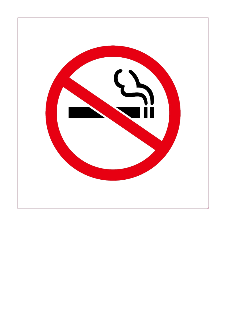 Chinese no smoking signs (禁止吸烟) in Word format main image