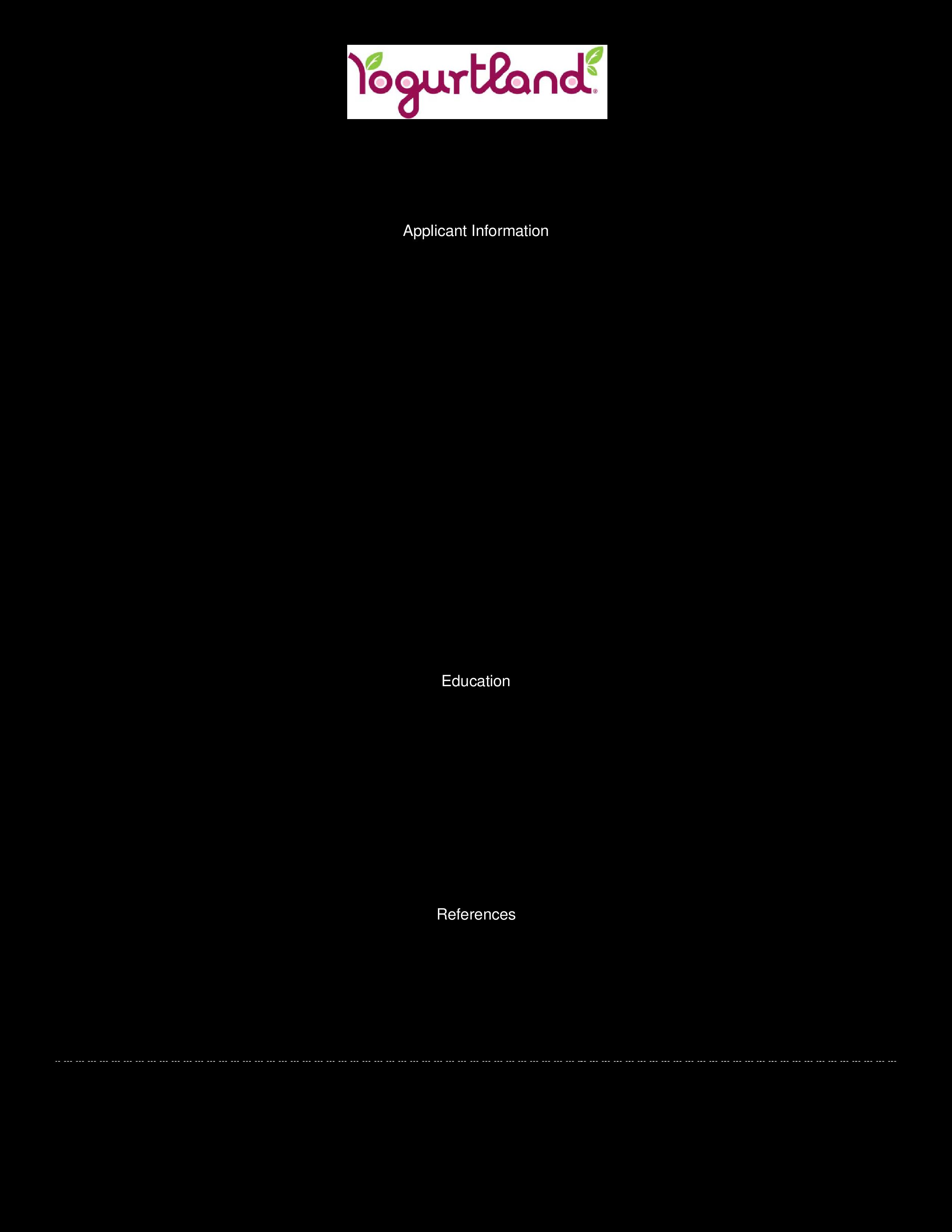 work availability form template