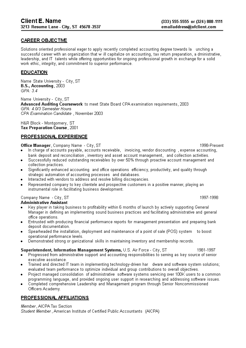 Entry Level Resume For Administrative Assistant Main Image