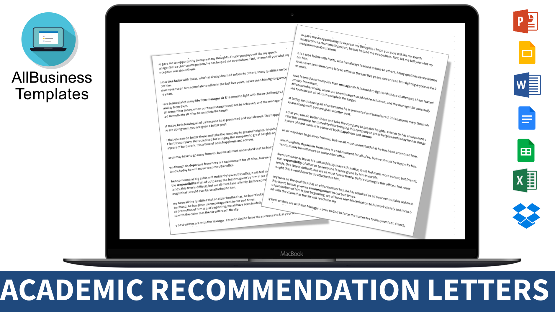 Free Academic Recommendation Letter  Templates At