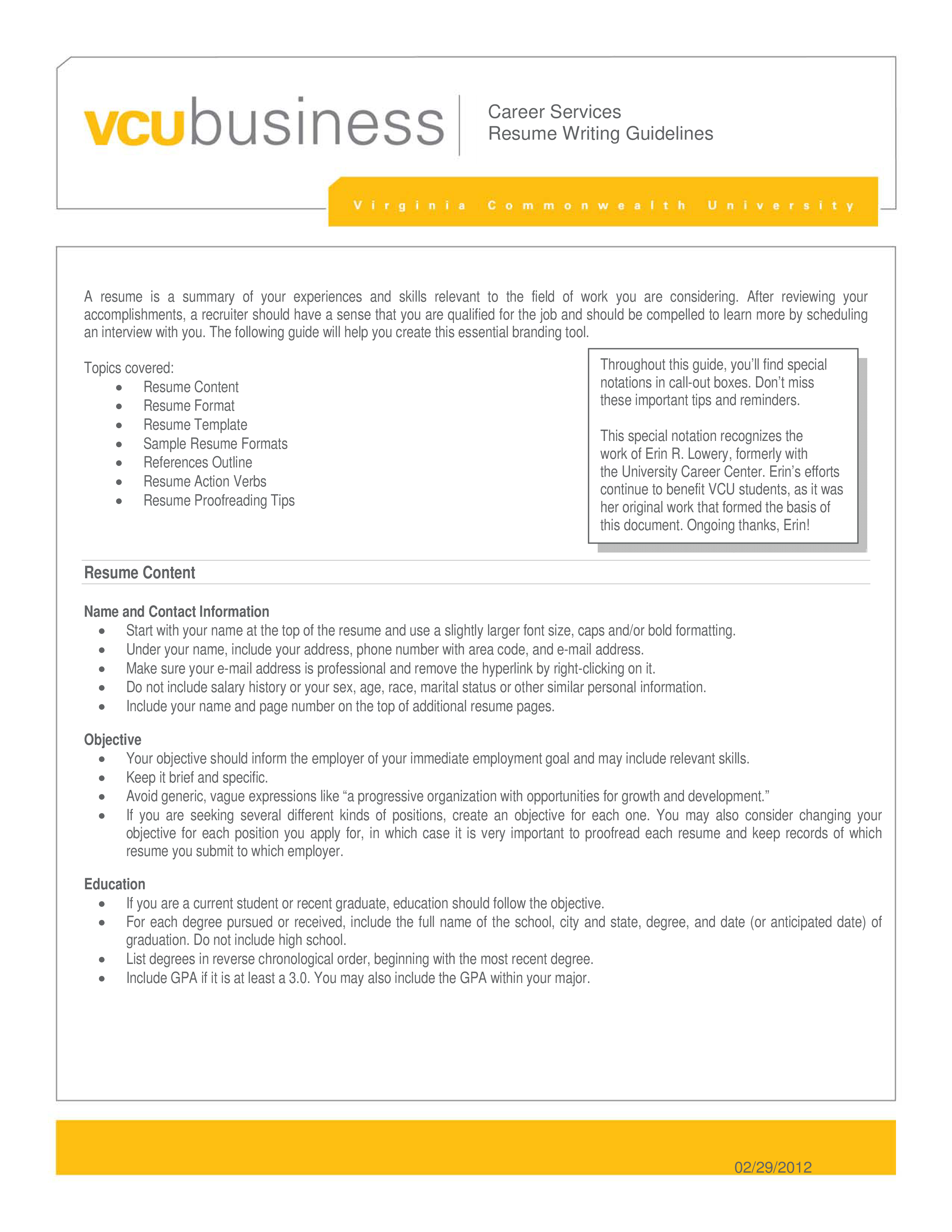 Free Business Management And Administration Resume Templates At