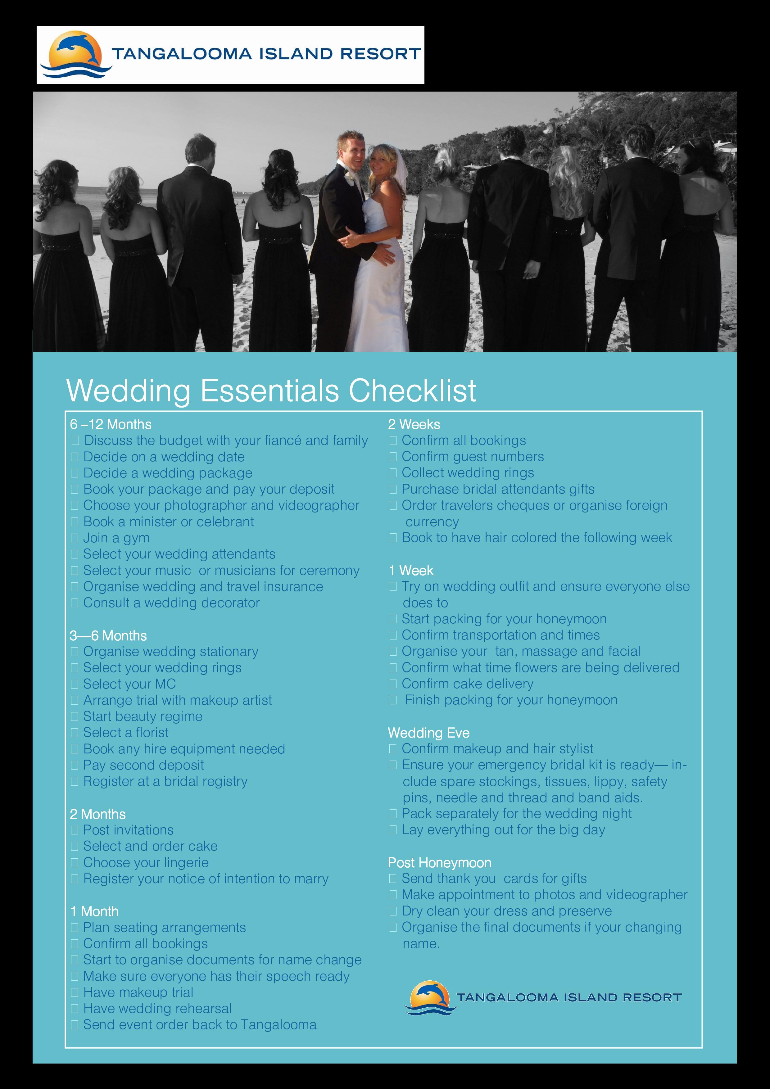 Wedding Day Essentials Checklist Main Image