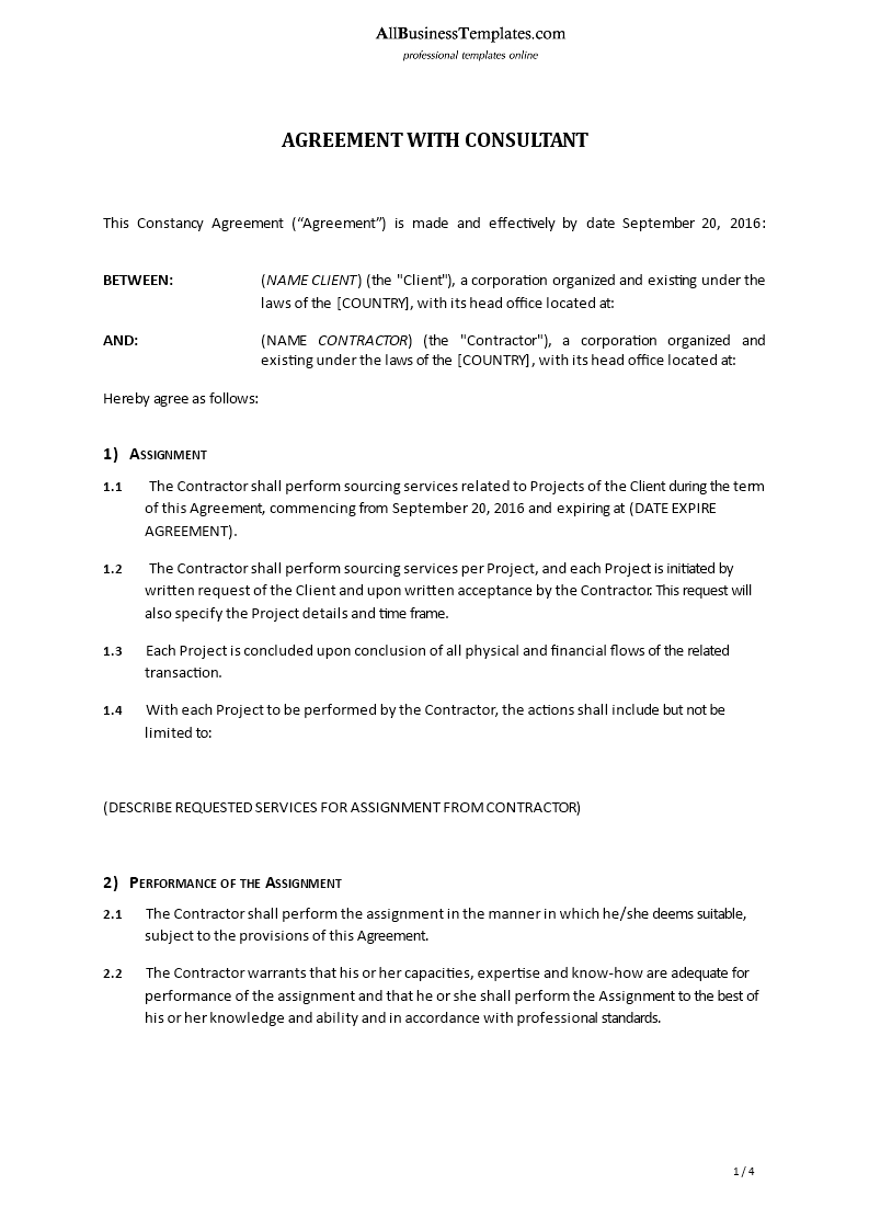 Consultancy Agreement main image