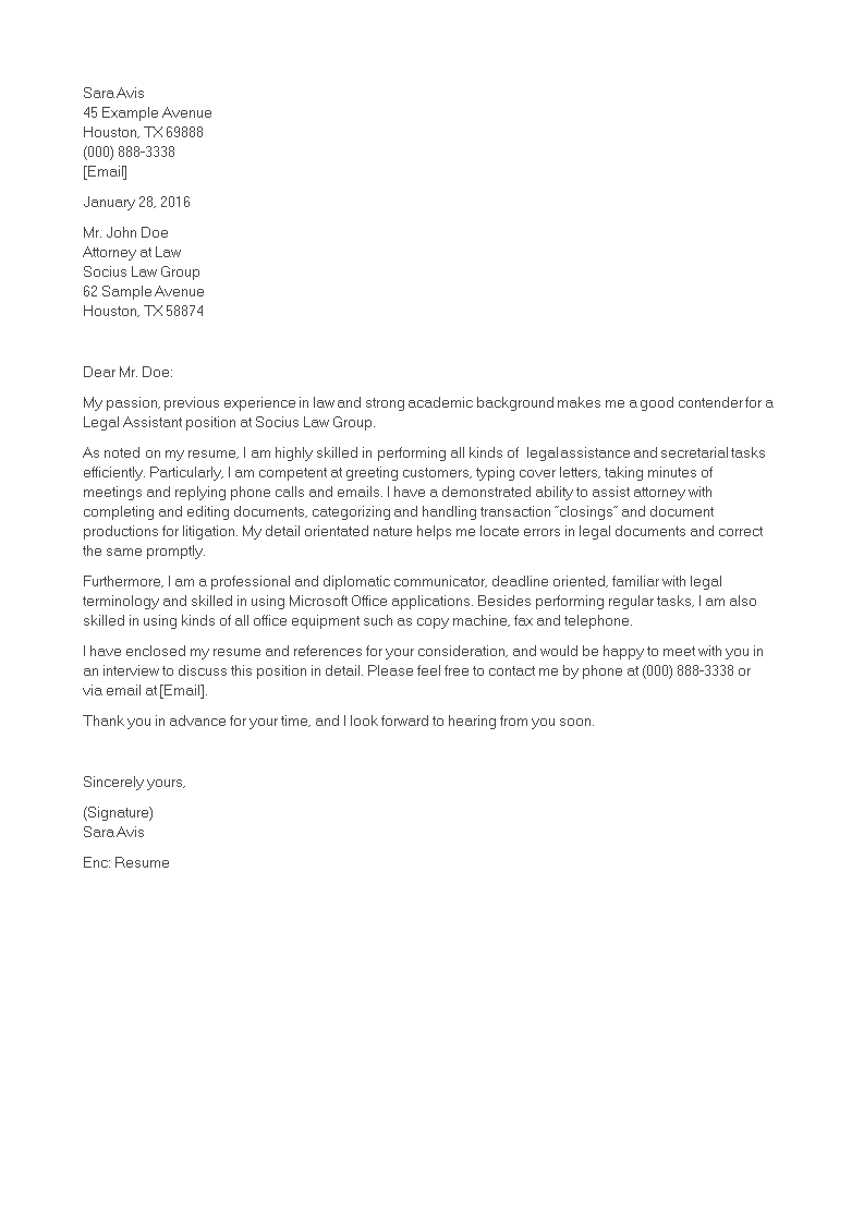 Sample Cover Letter For Law Firm from www.allbusinesstemplates.com