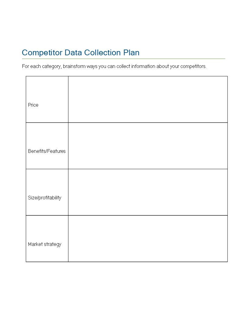 Competitor Data Collection Plan main image