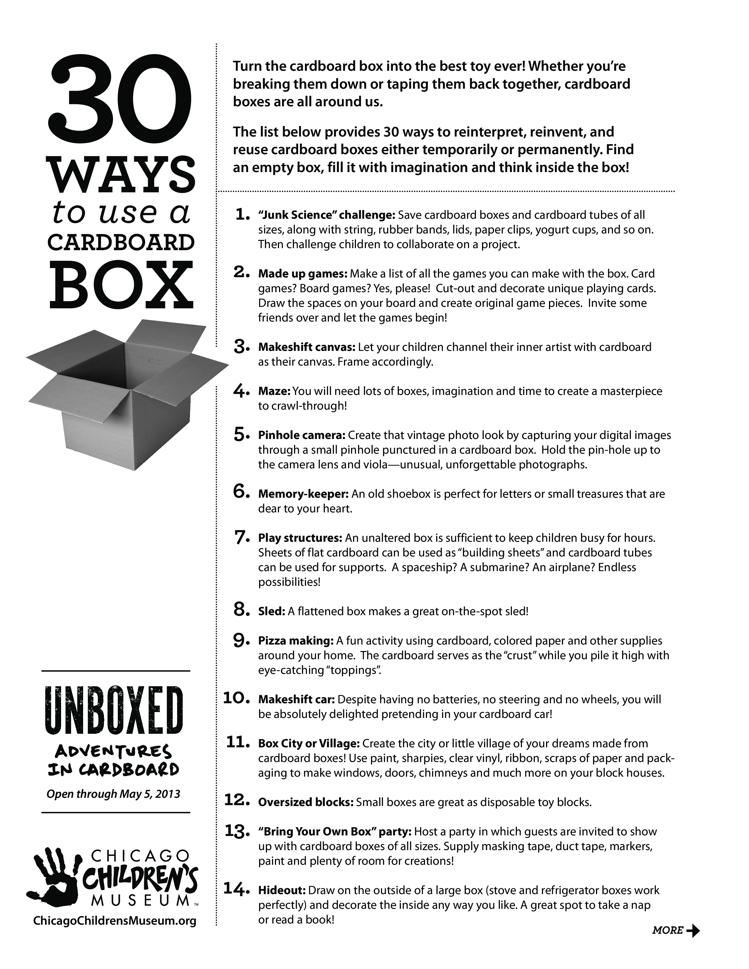 Free 30 Ways To Reuse Cardboard Boxes List Templates At