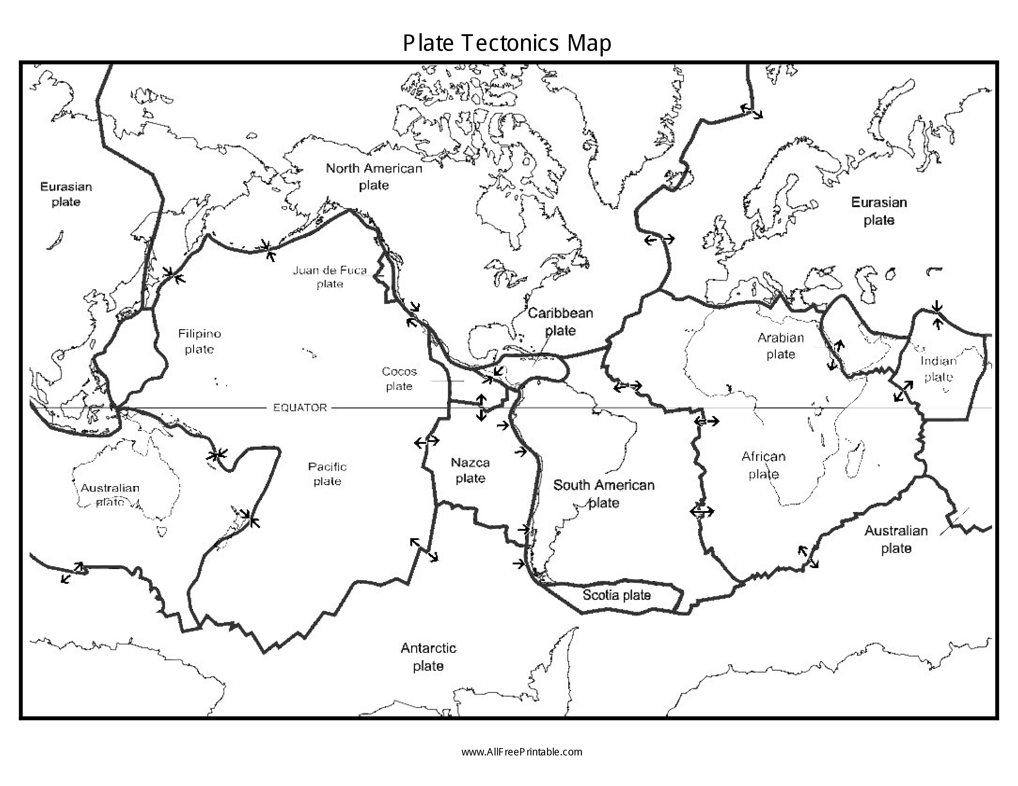 Free Plate Tectonics Map | Templates at allbusinesstemplates.com