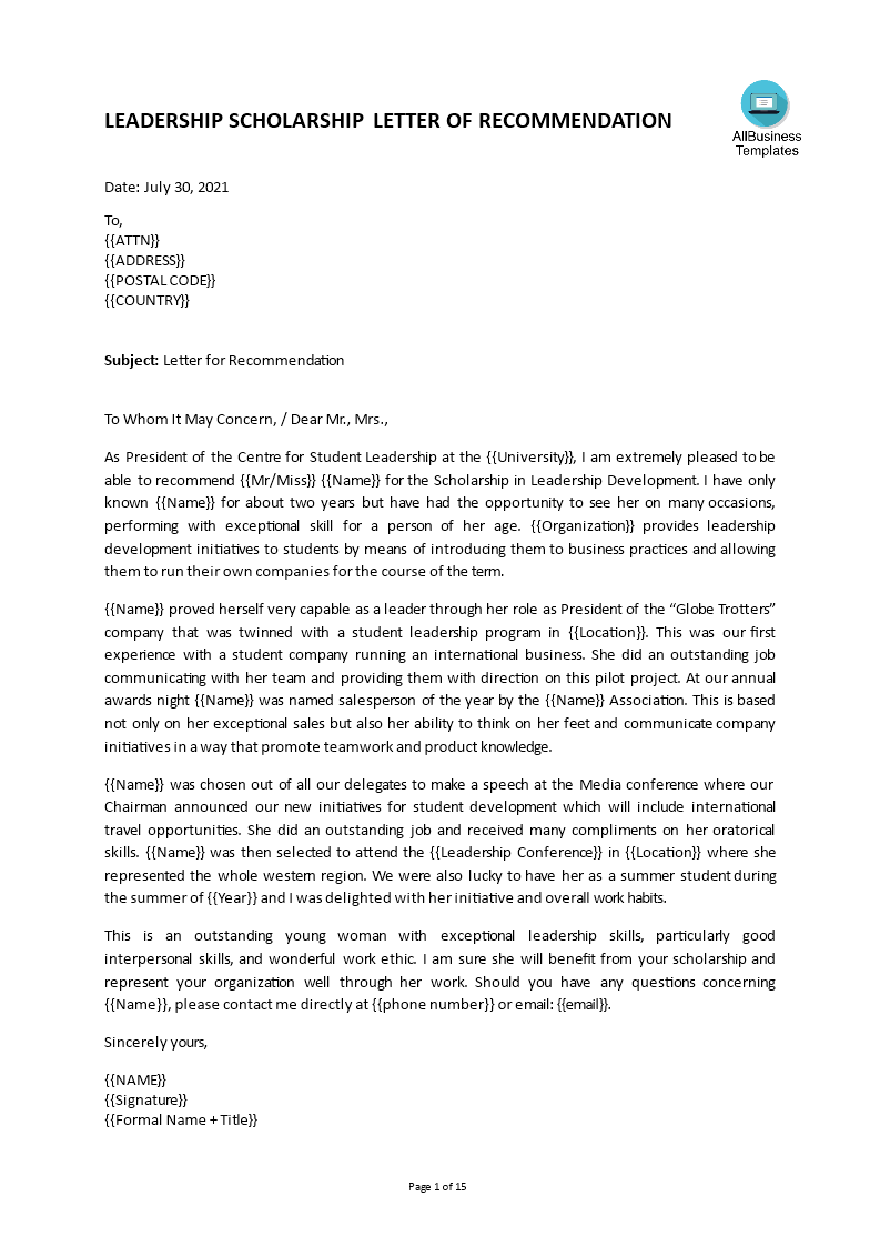 Free Graduate School Reference Letter Templates At