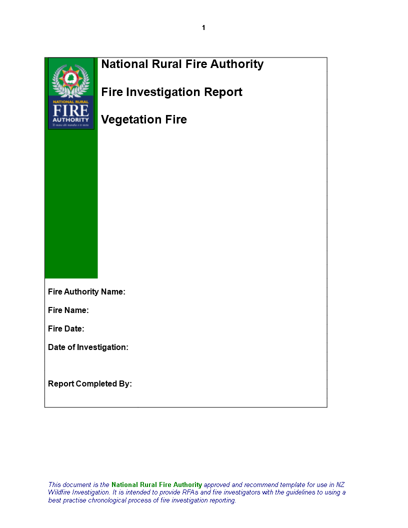 Fire Inspection In Word main image