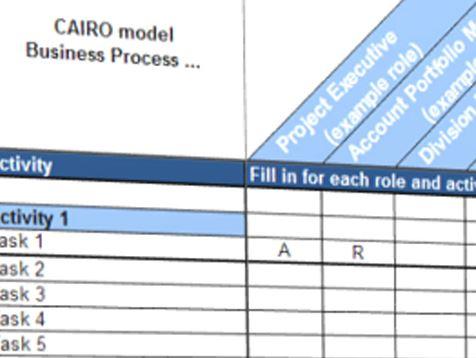 Responsibility matrix cairo templates at for Cairo mobel