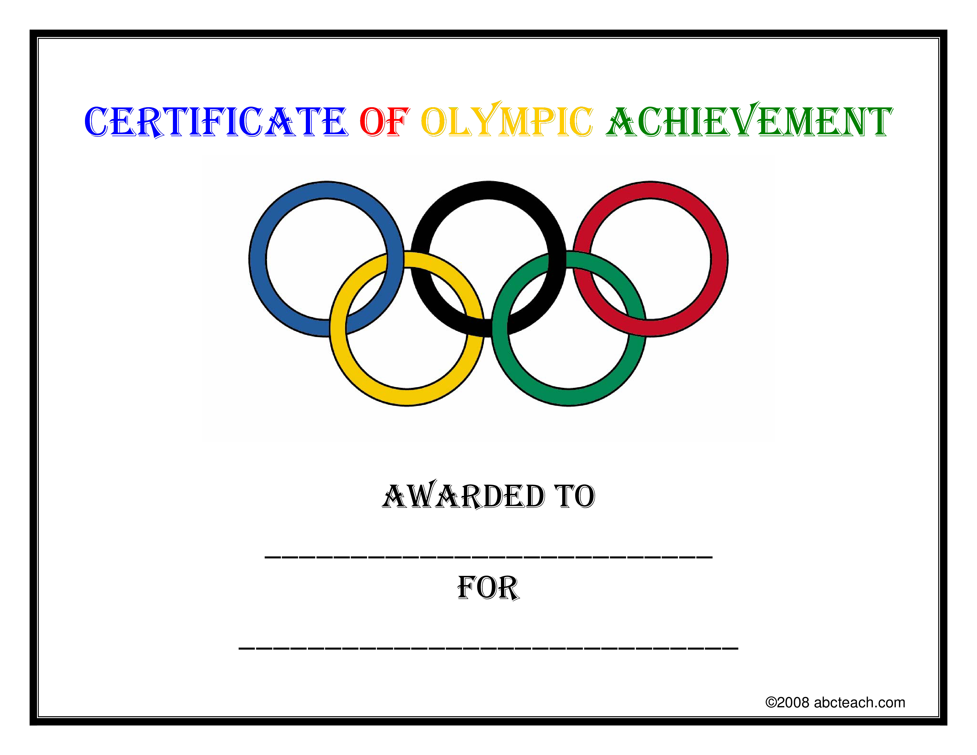 Free Certificate Of Sports Achievement Templates At