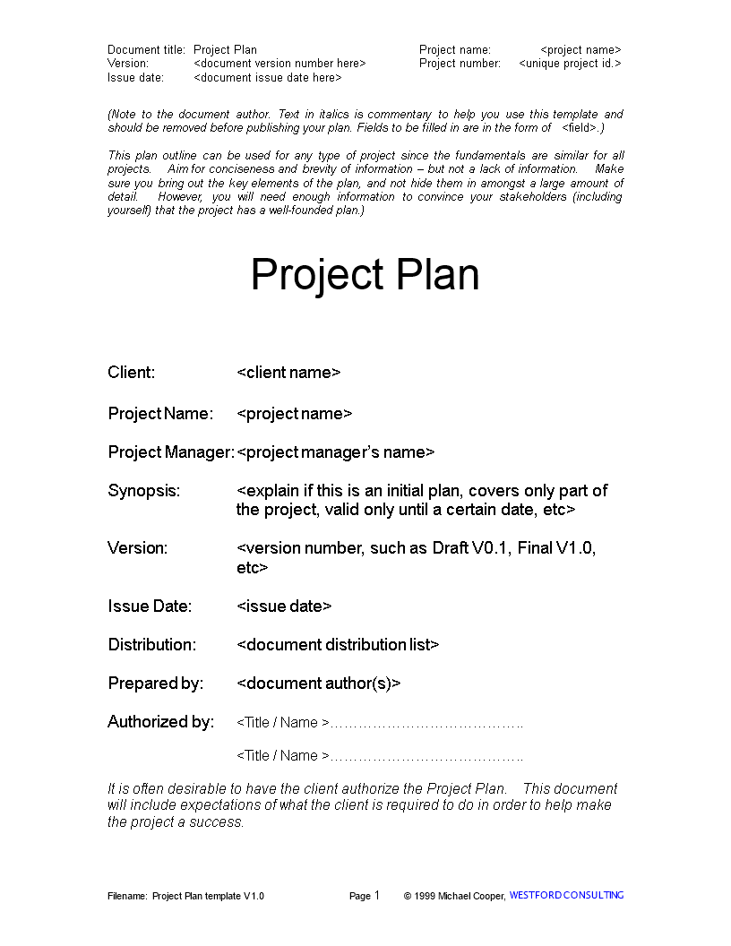 Call Center Project Plan Main Image Template