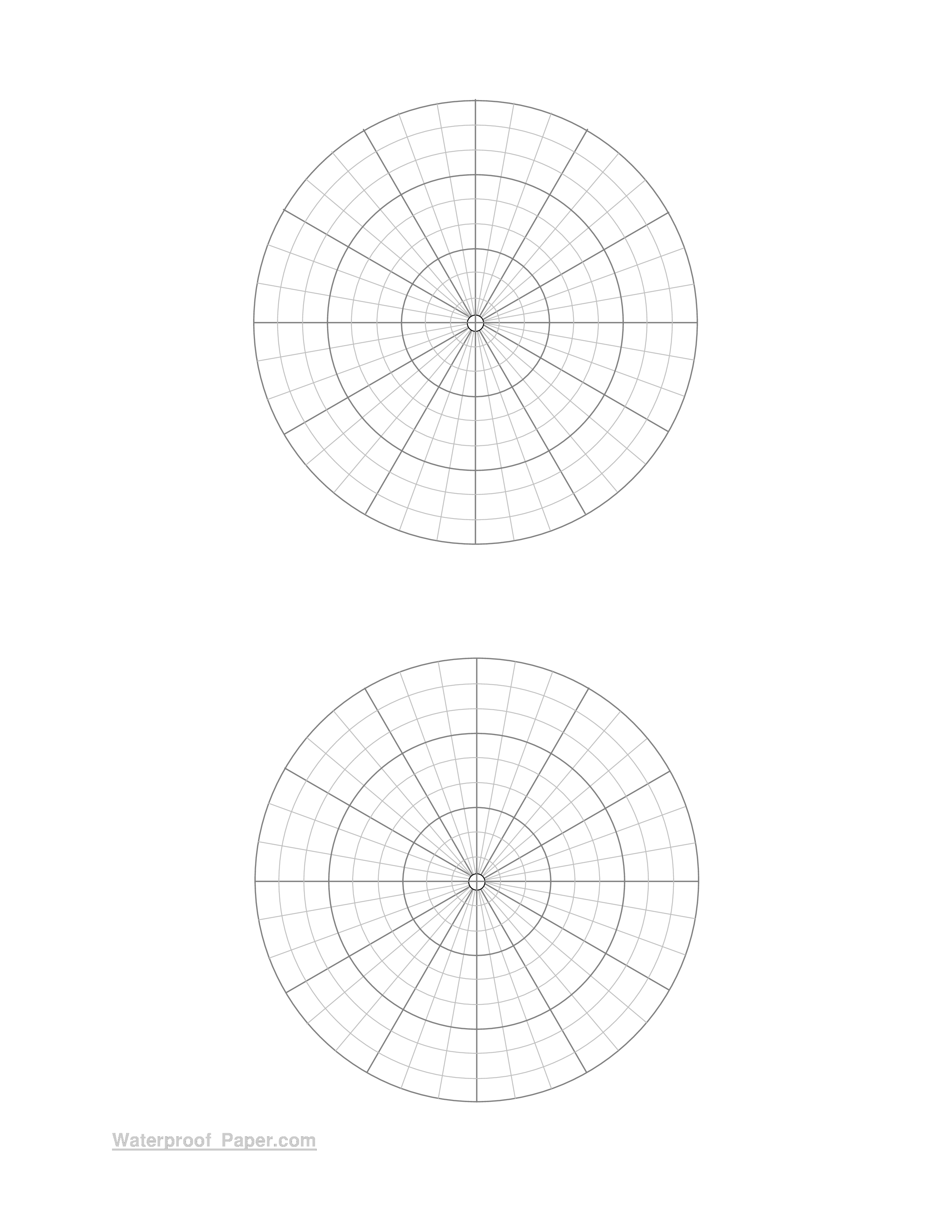 Free Printable Polar Coordinate Graph Paper Templates At