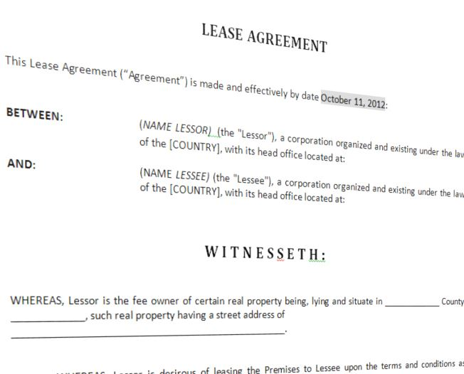 Lease Agreement For Furnished House main image