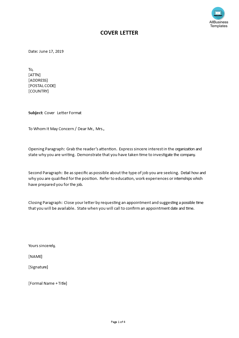 letter template with signature  signature on cover letter - Orgsan.celikdemirsan.com