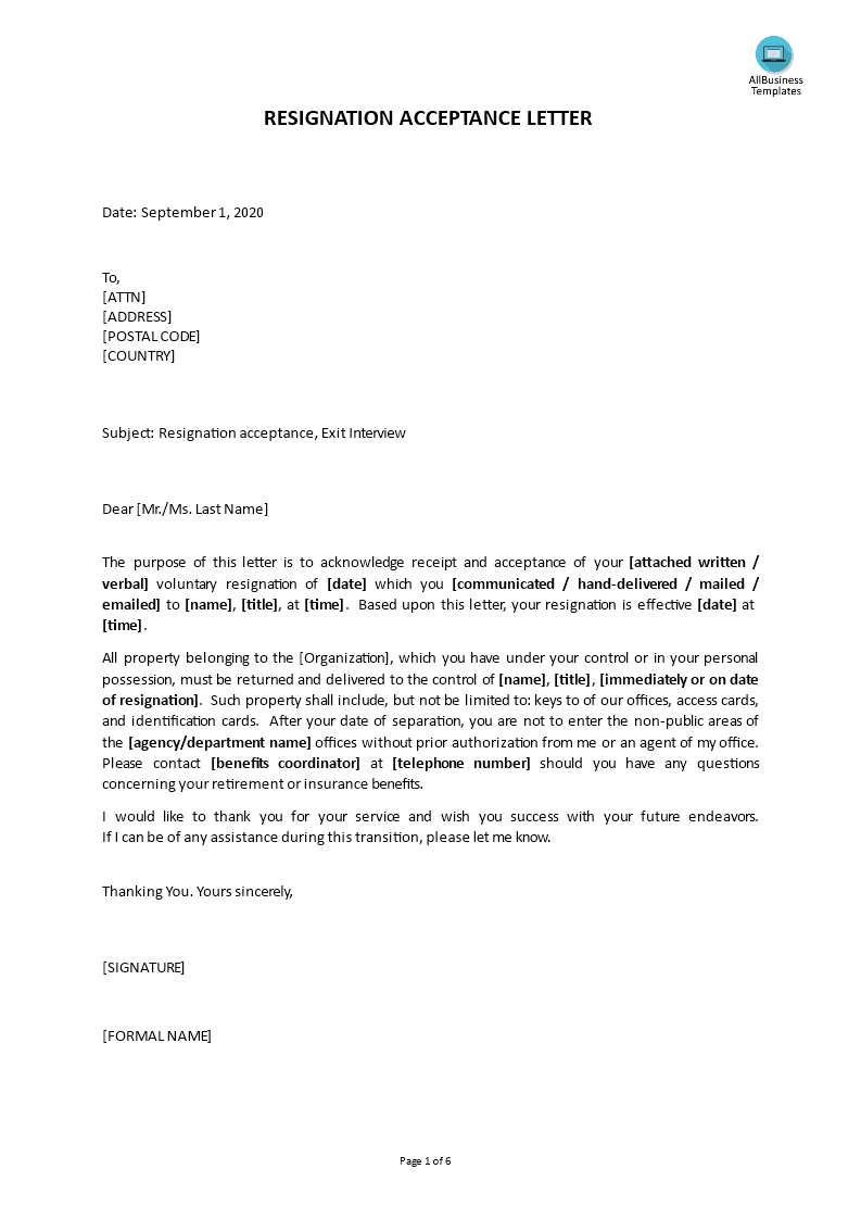 Gratis request for resignation acceptance letter request for resignation acceptance letter template img main expocarfo Image collections