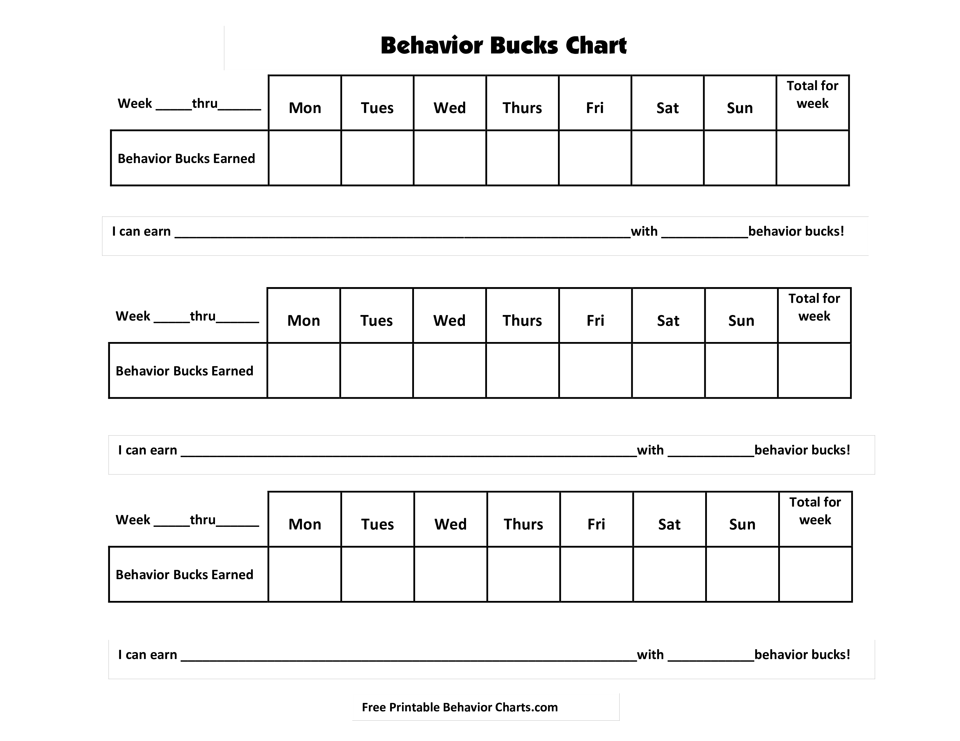 classroom bucks template - free behavior bucks templates at