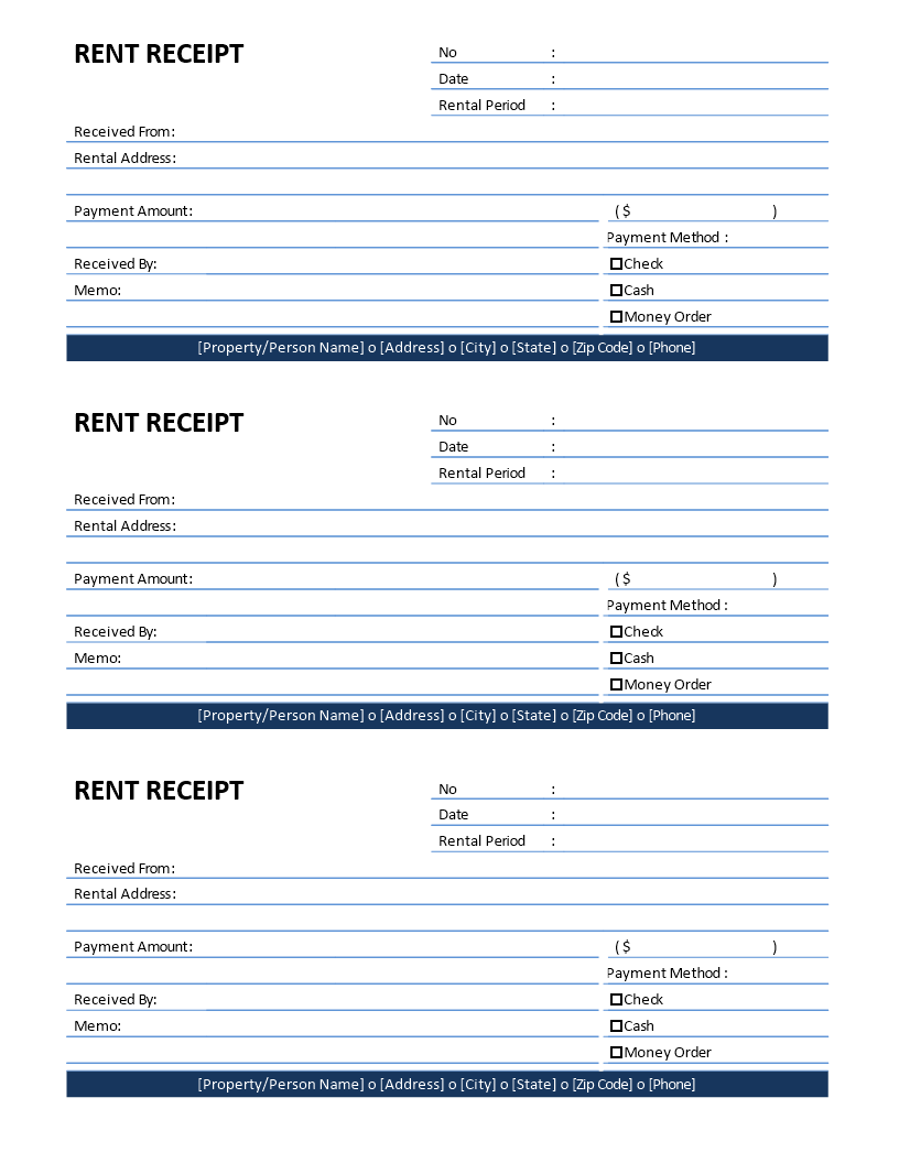 Free Rent Receipt Template Templates At Allbusinesstemplates