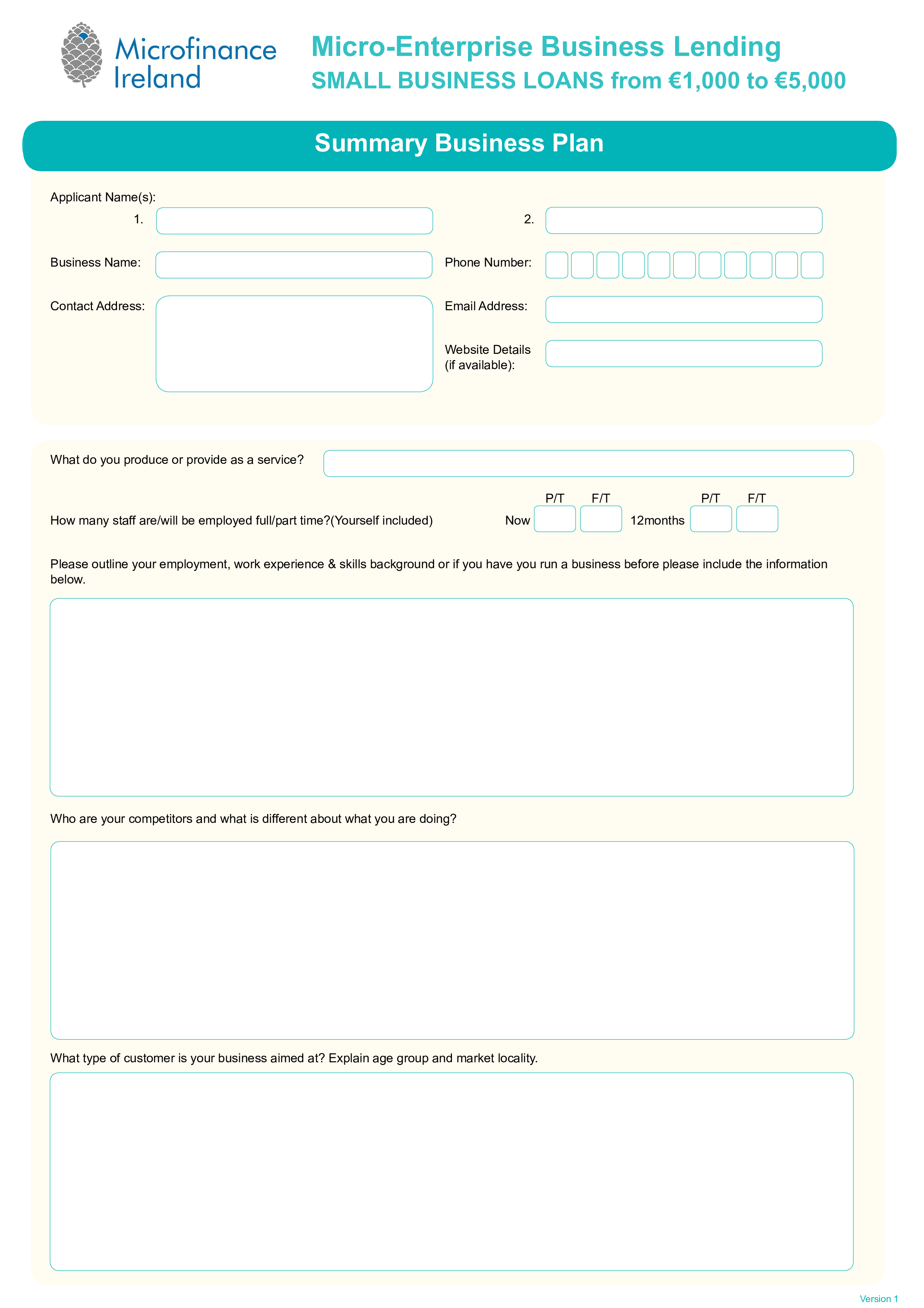 Free small business loan plan templates at allbusinesstemplates small business loan plan main image download template friedricerecipe Images