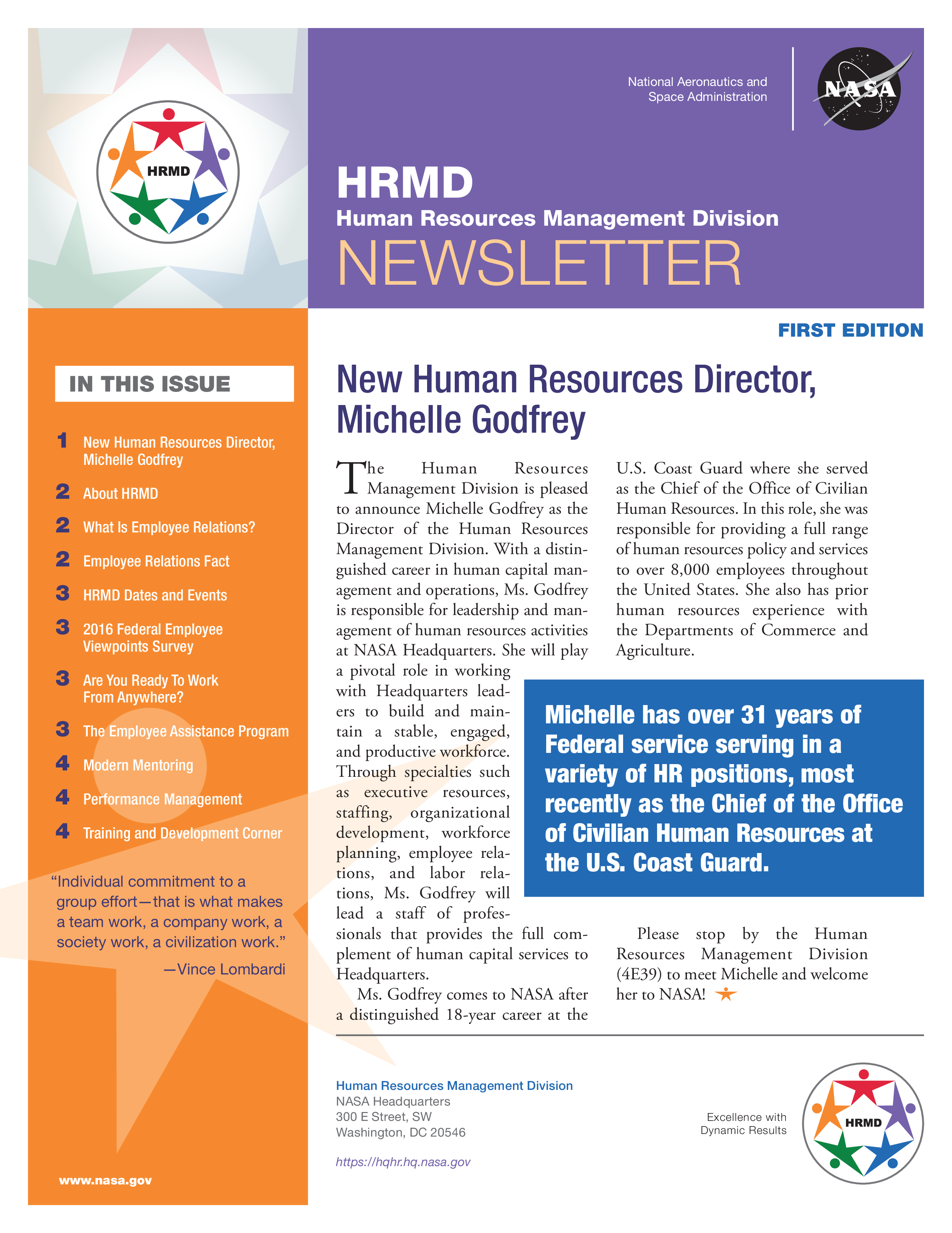 Free Monthly Human Resources Newsletter example | Templates at ...