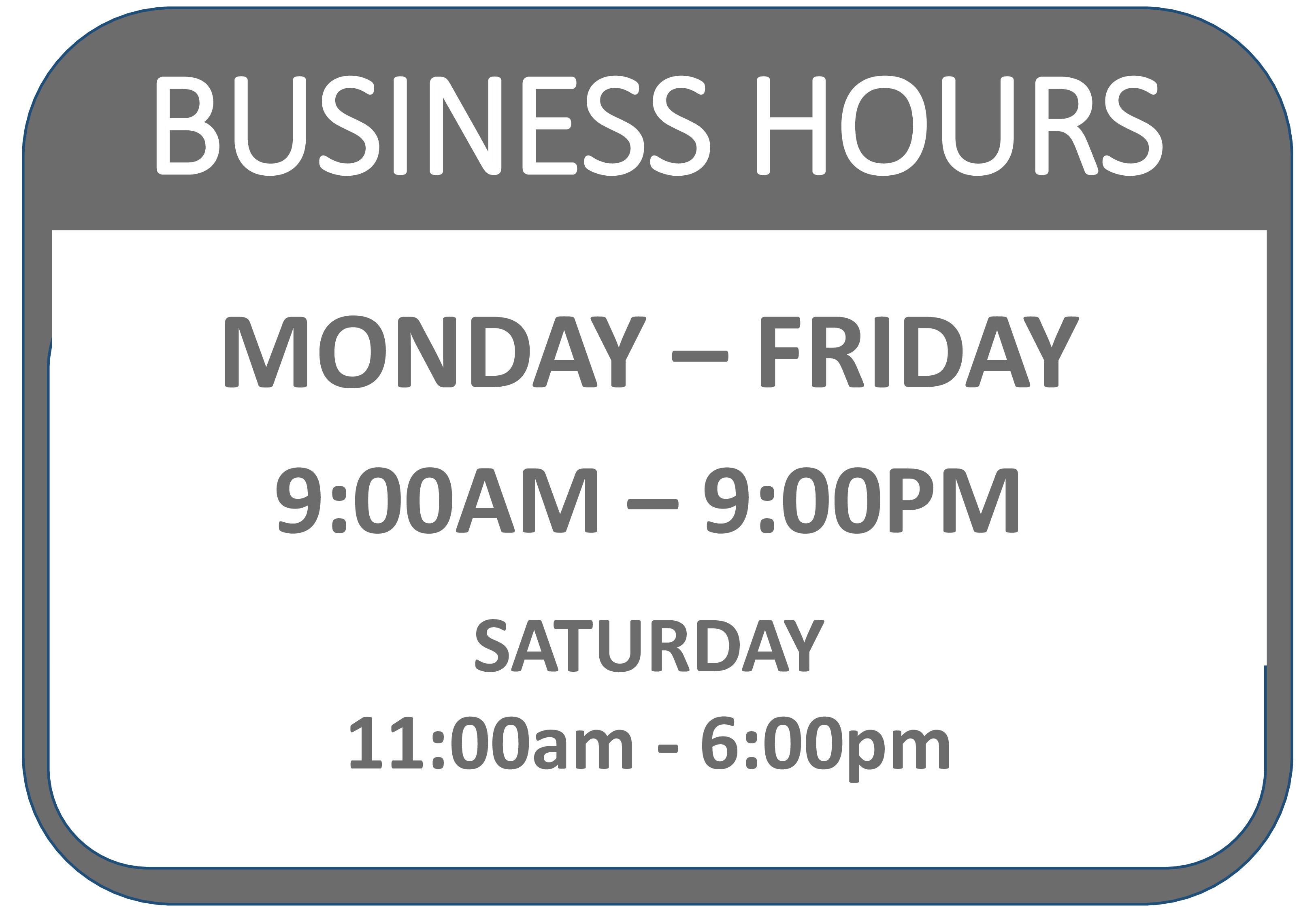 free business hours signage templates at. Black Bedroom Furniture Sets. Home Design Ideas