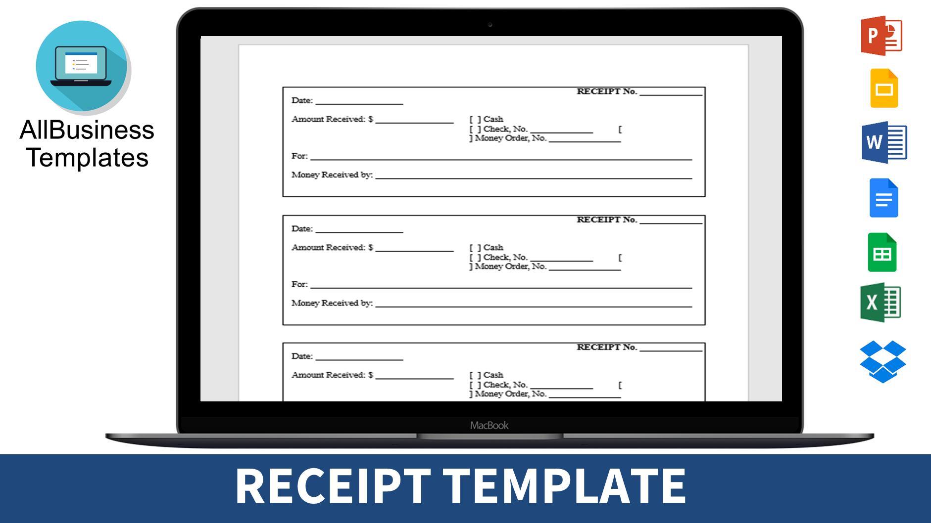 Printable Receipt Templates At Allbusinesstemplates Com