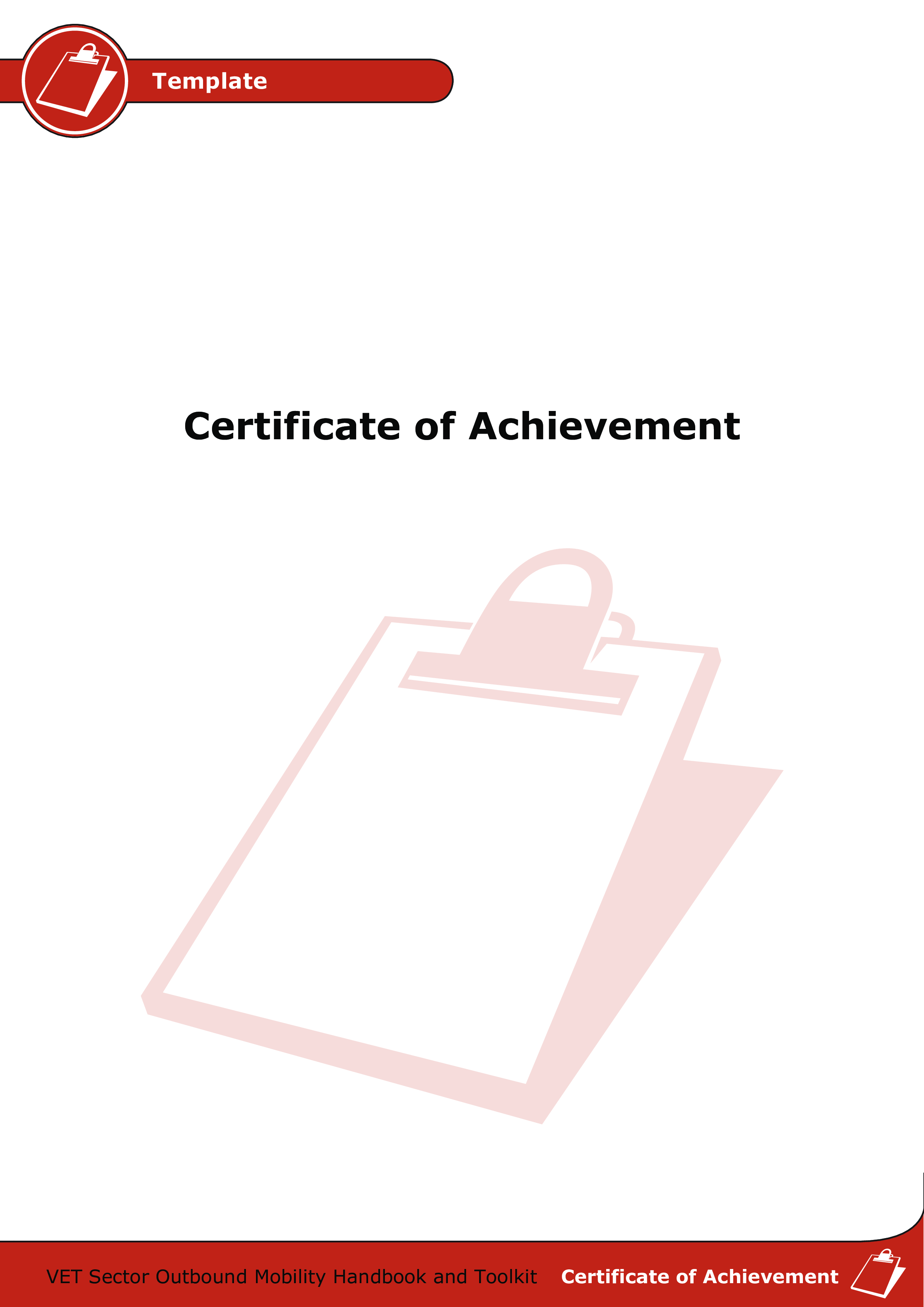 Free Certificate Of Outstanding Achievement Templates At
