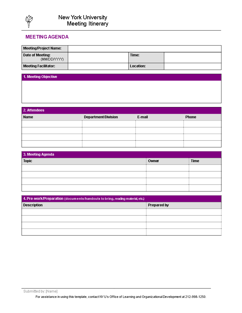 free business meeting template templates at