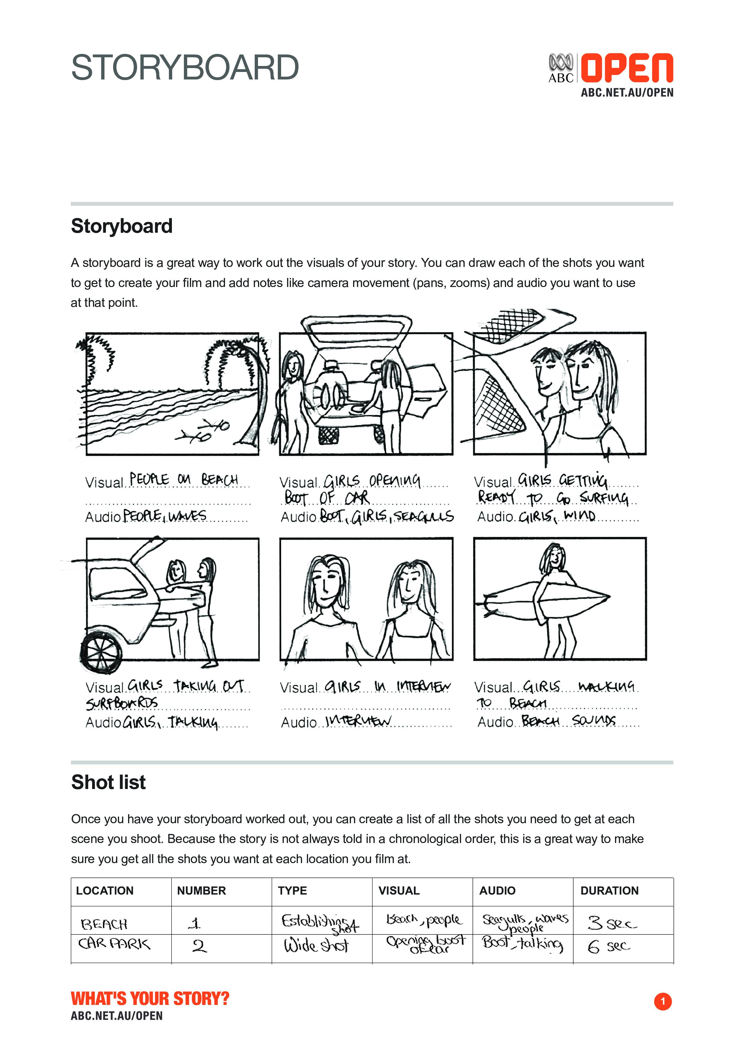 Free Sample Storyboard Template For Film And Video Templates At