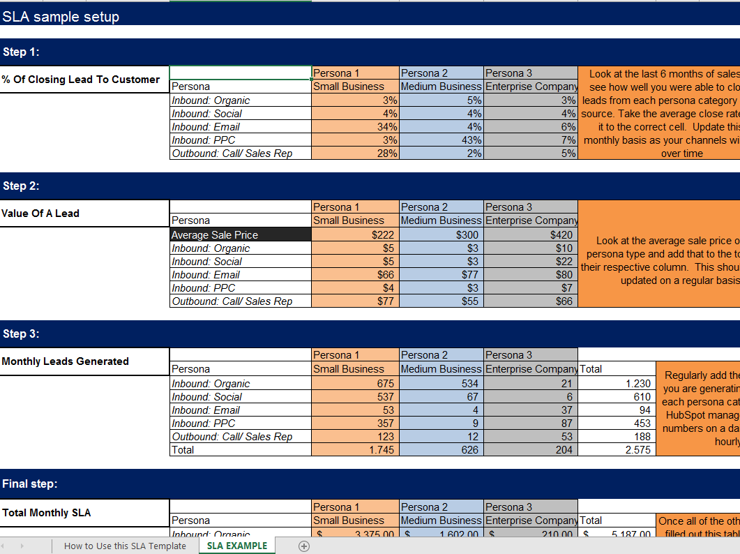 sales leads template excel