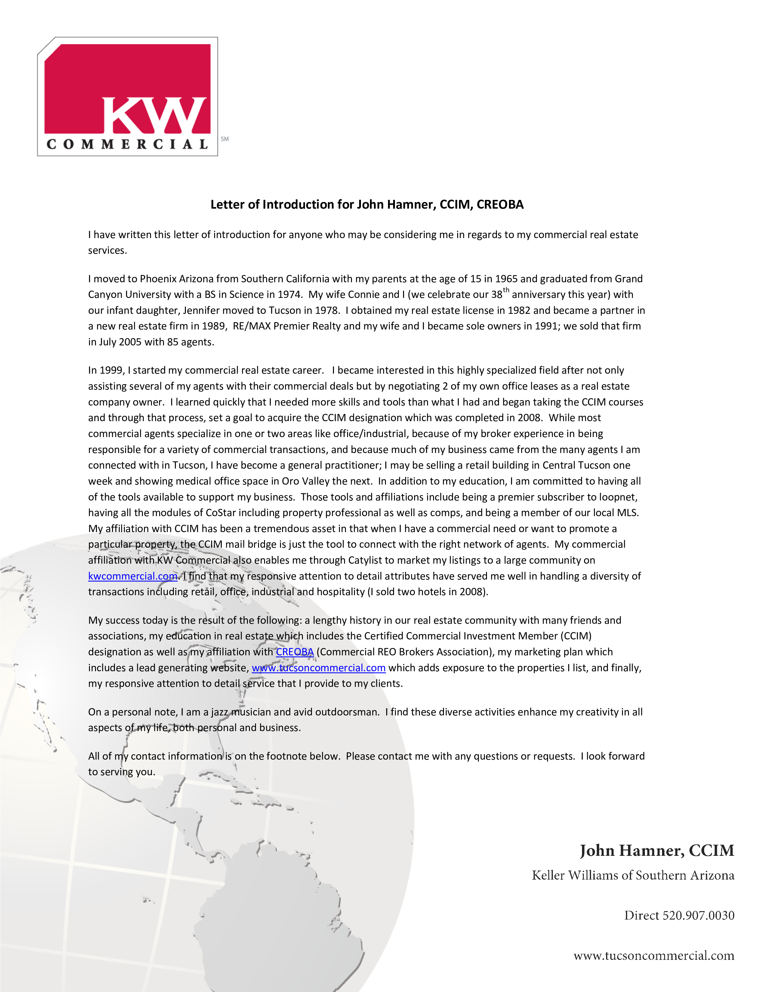 Free Real Estate Introduction Letter Templates At