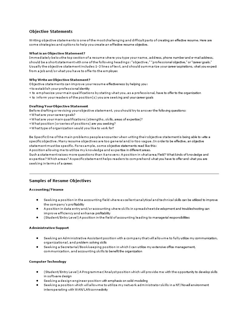 career aspiration sample answer