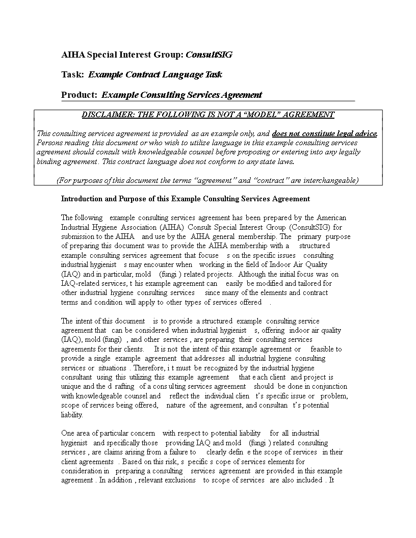 contract templates for consultants - free consulting agreement templates at