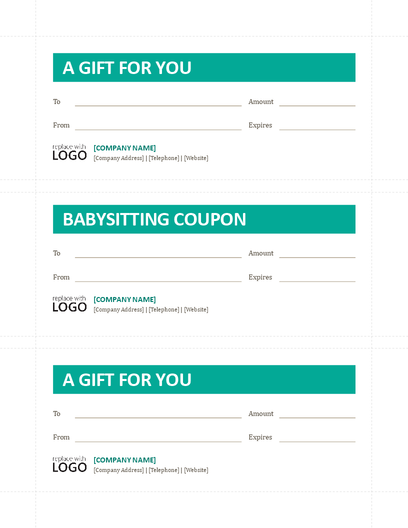 Babysitting Coupon Template | Free Babysitting Coupon Template Templates At Allbusinesstemplates Com