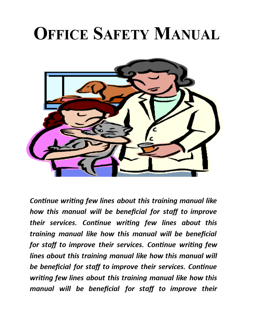 department manual template - office safety manual template images template design ideas