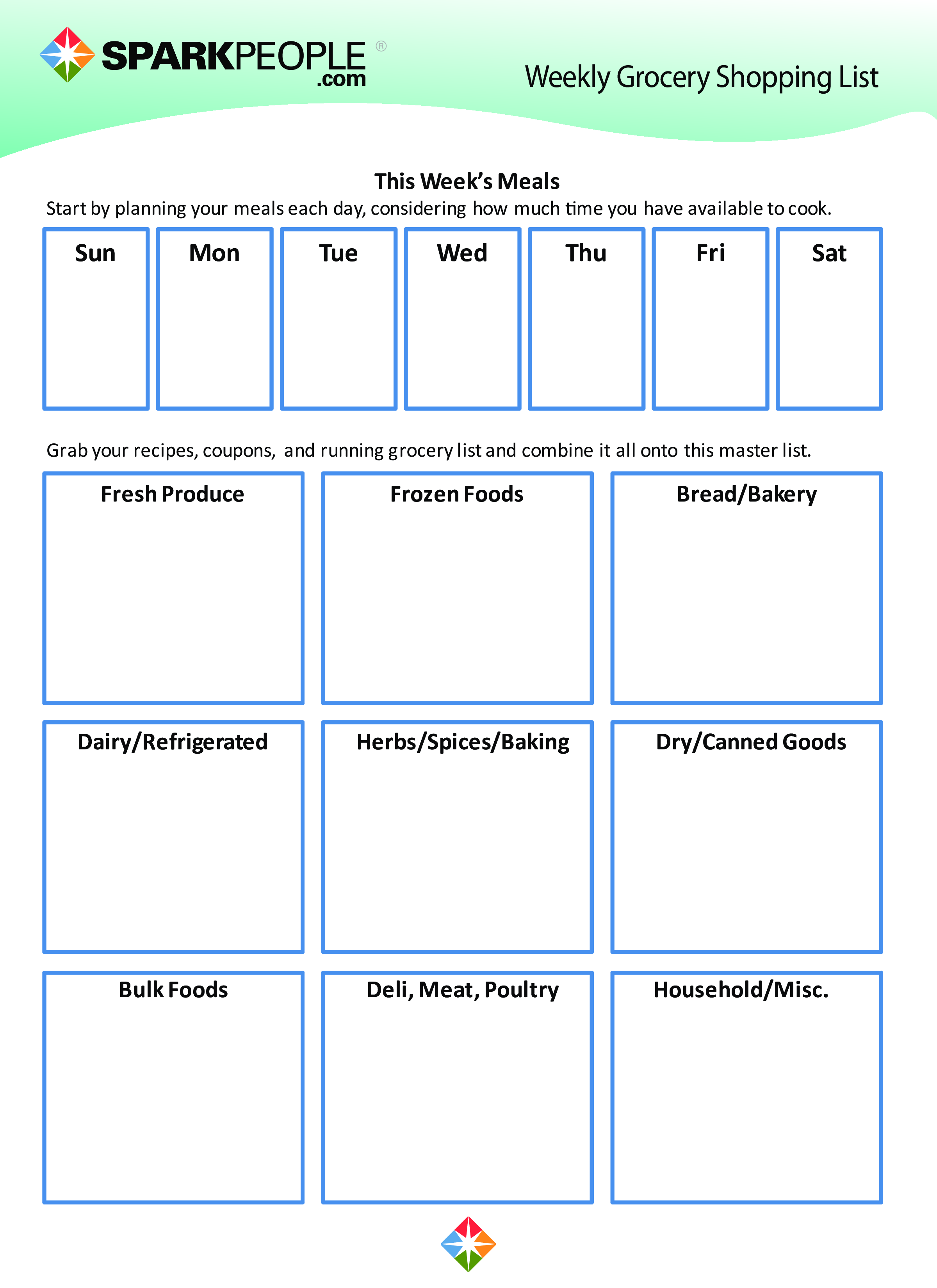 Free Grocery Shopping List Printable | Templates at ...