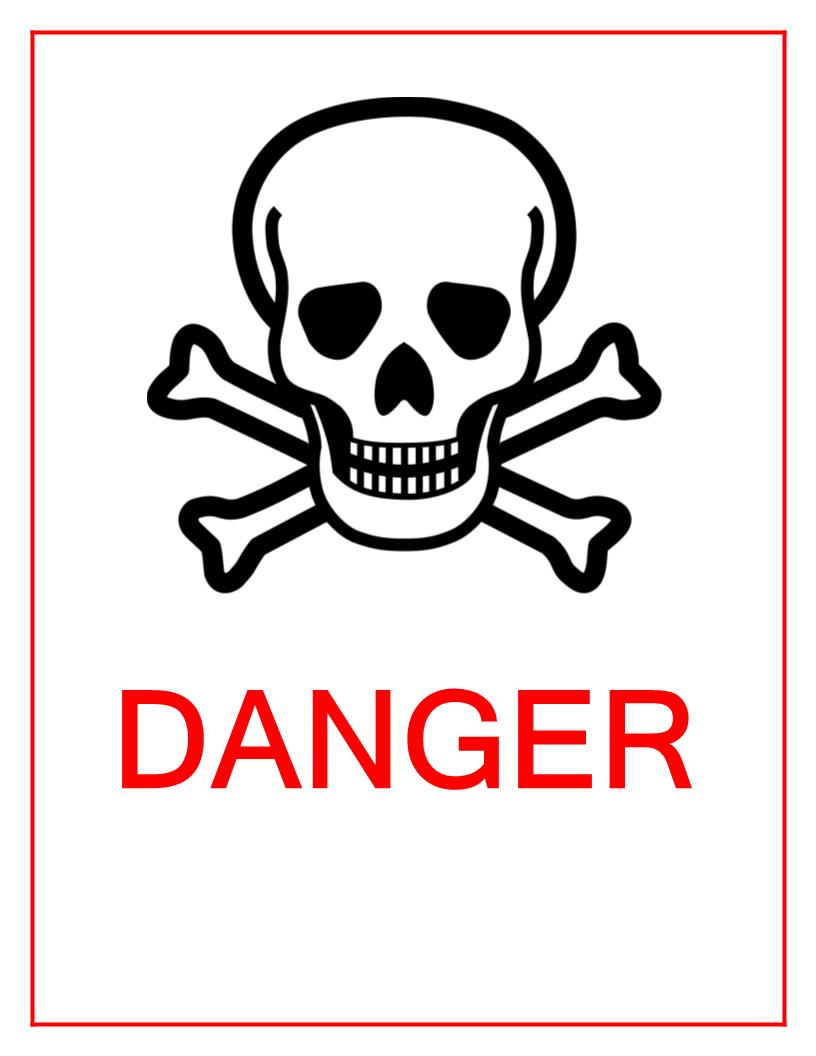 Danger Sign with skull | Templates at allbusinesstemplates com