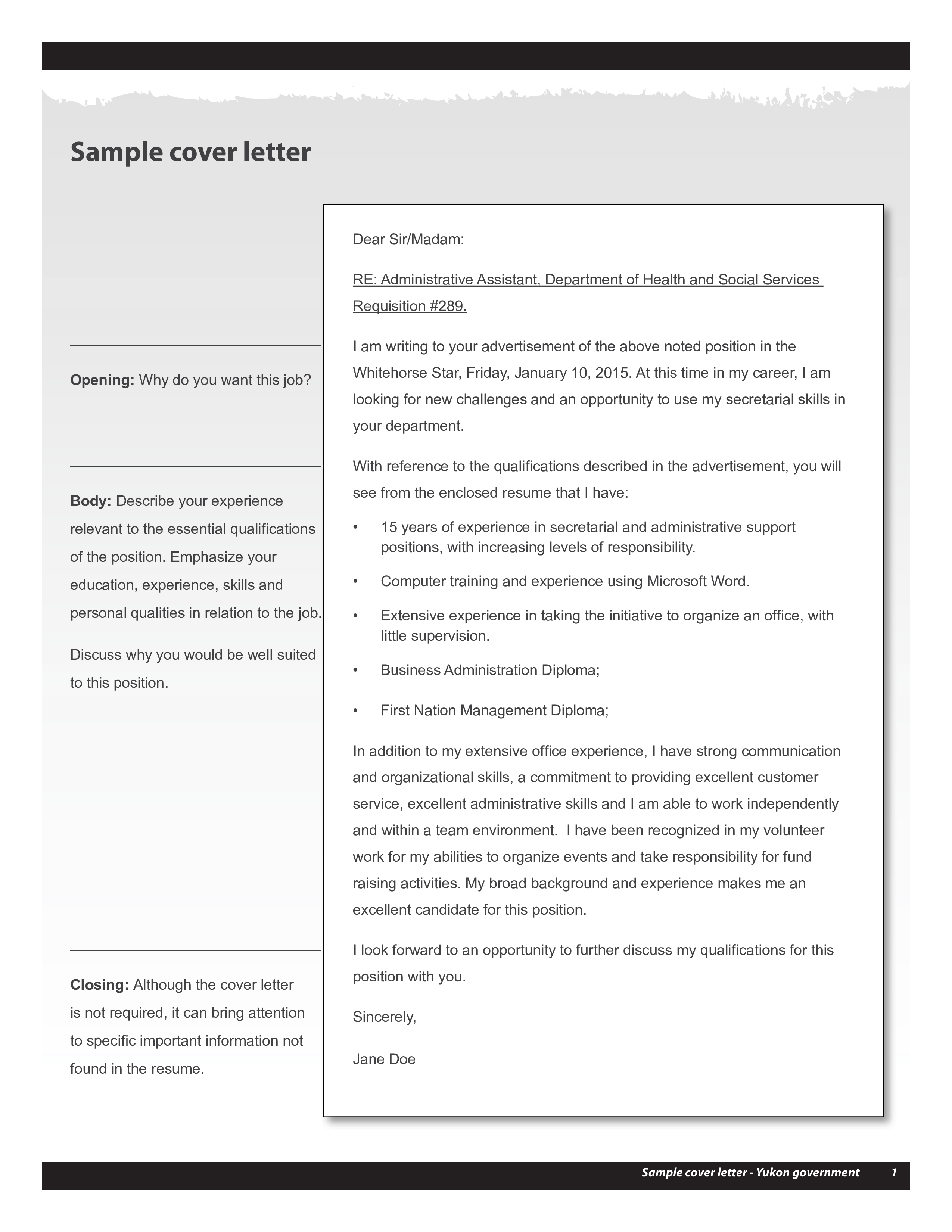 Free Cover Letters For Resume Templates At Allbusinesstemplates Com