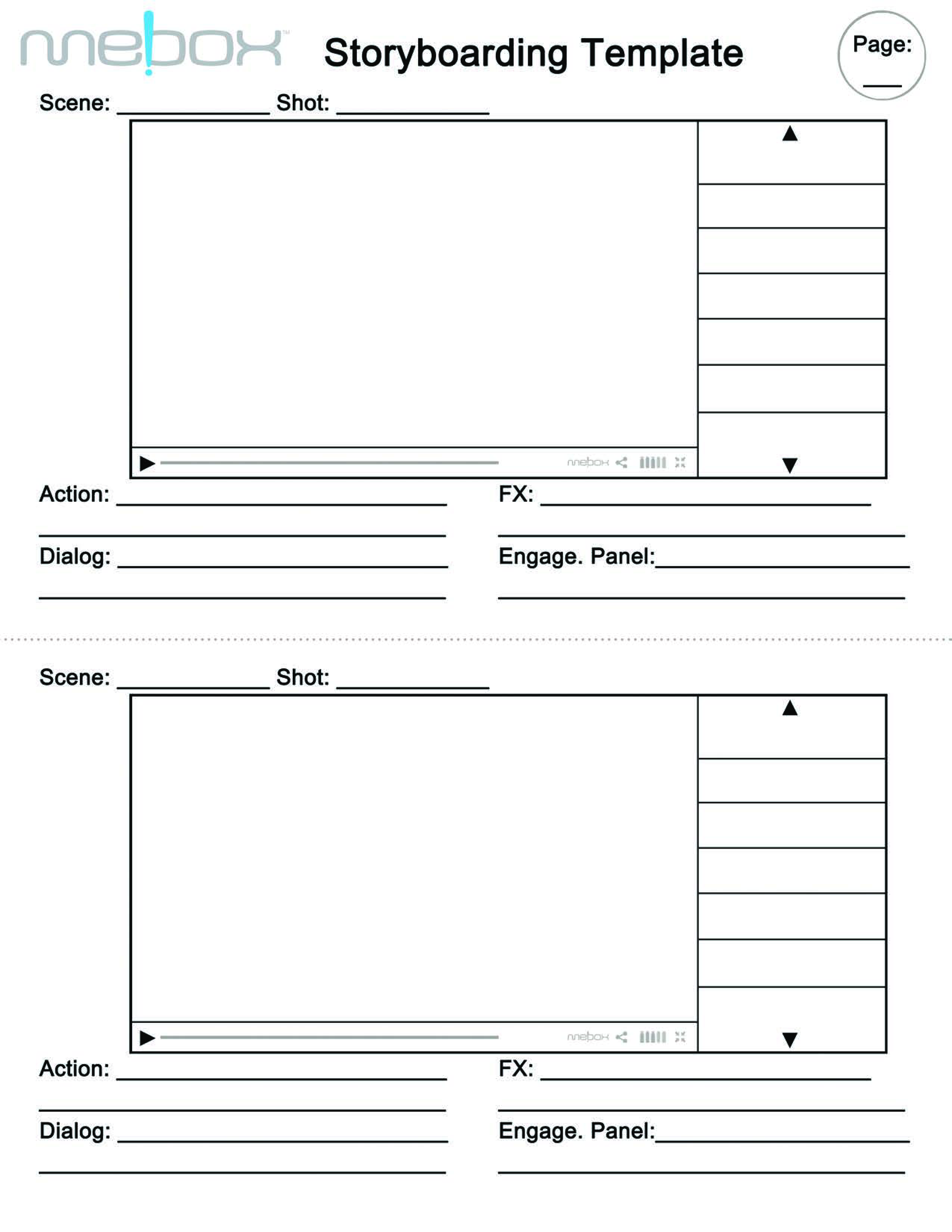 Free Storyboarding Template Templates At Allbusinesstemplates