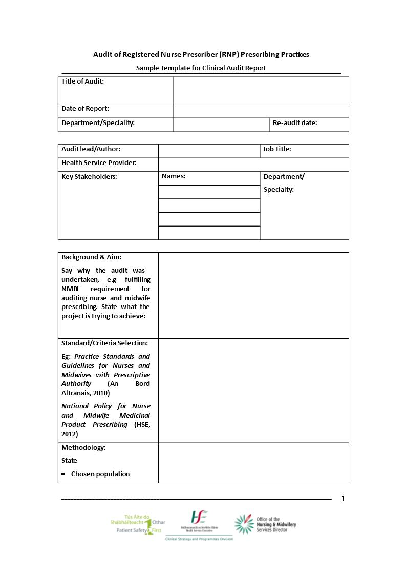 clinical audit templates at. Black Bedroom Furniture Sets. Home Design Ideas