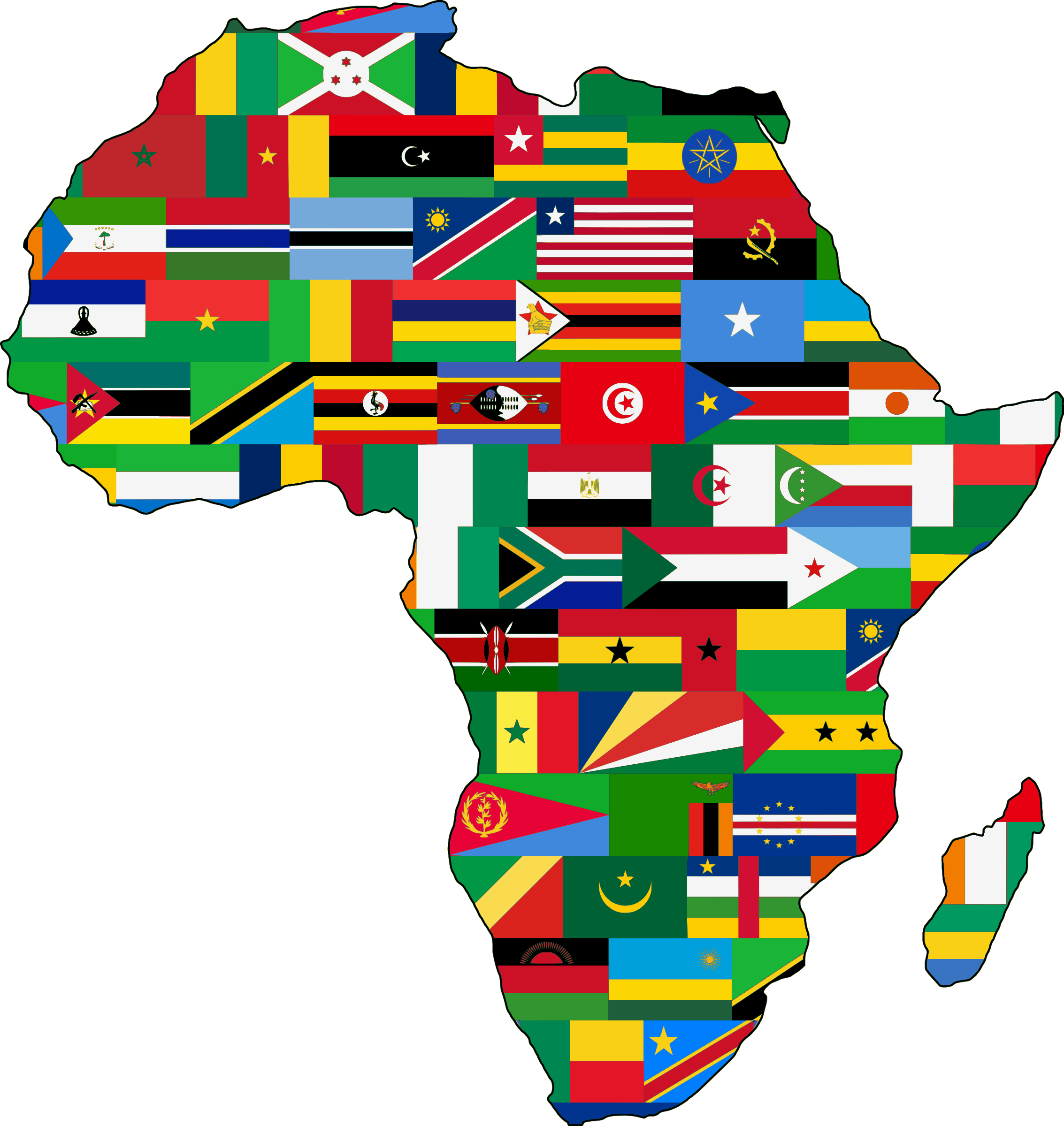 template topic preview image African Printable Flags Template