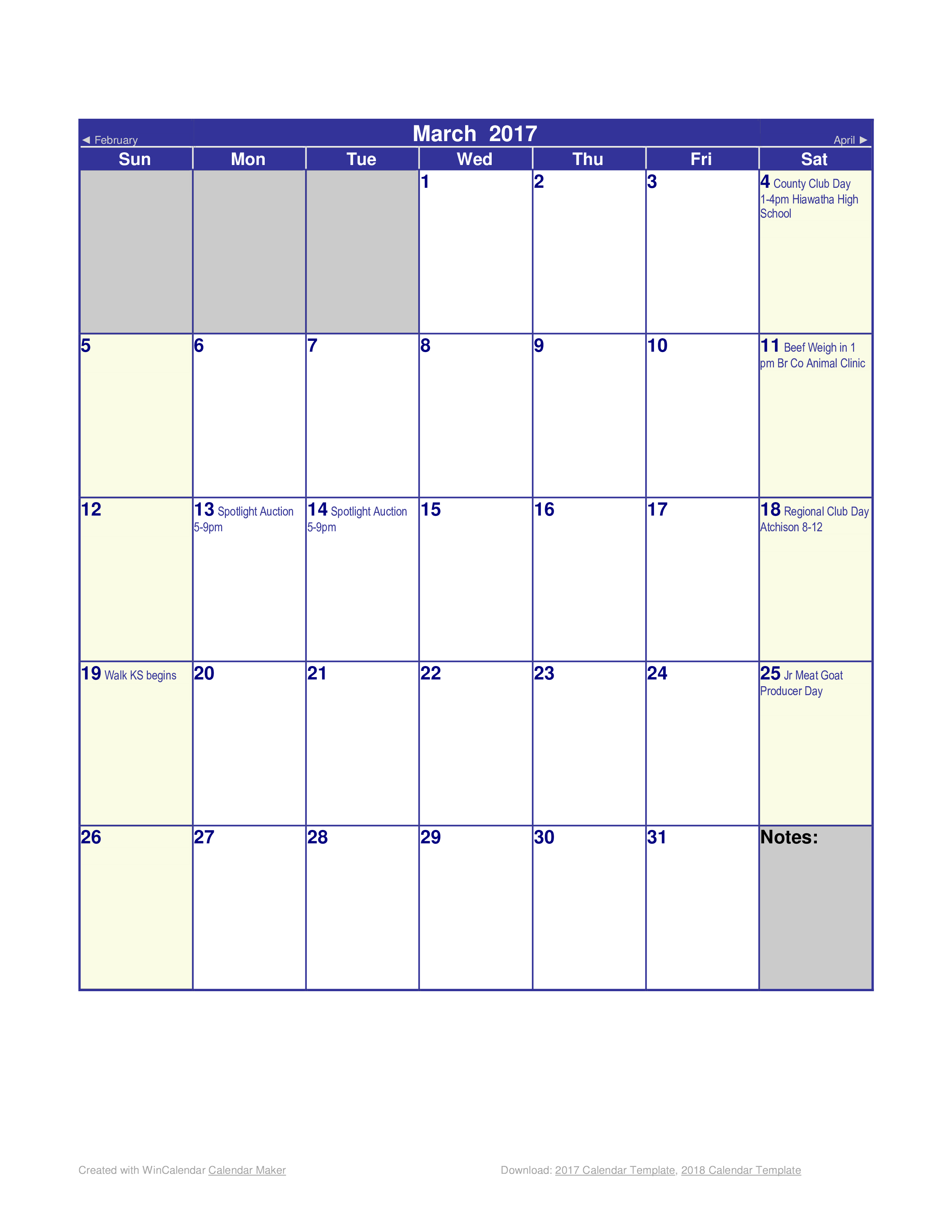 Free Blank Monthly Calendar Templates At Allbusinesstemplates Com