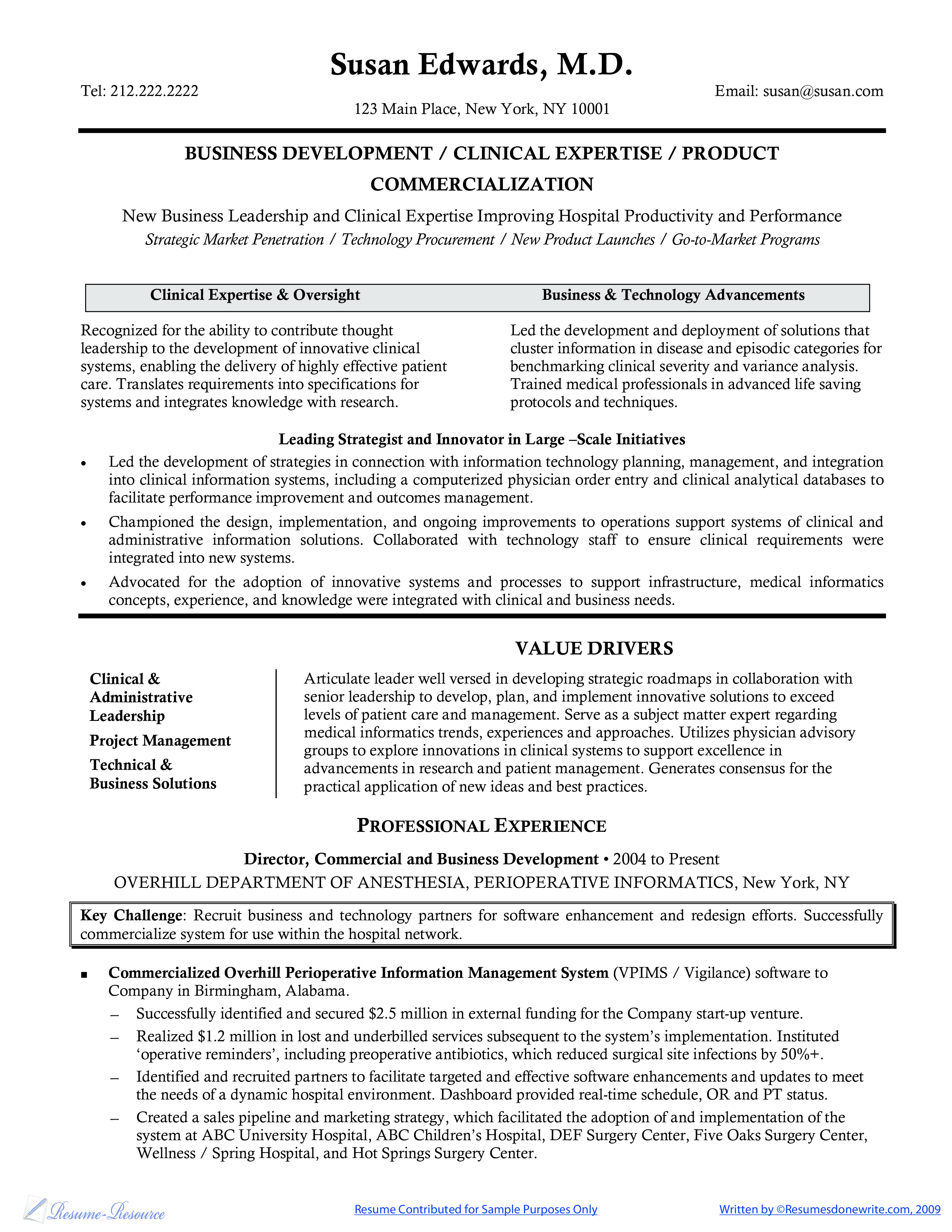 Clinical Research Resume Sample main image