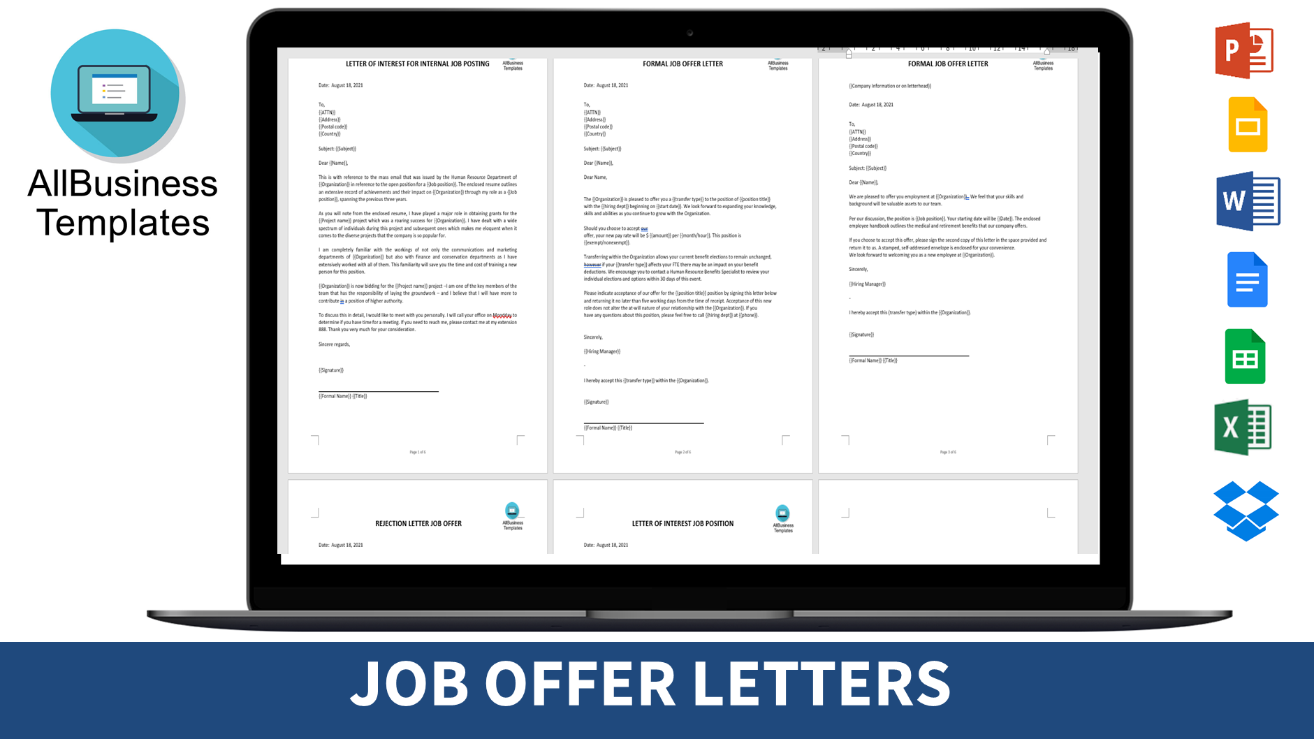 Free Sample Job Offer Letter Template Templates At